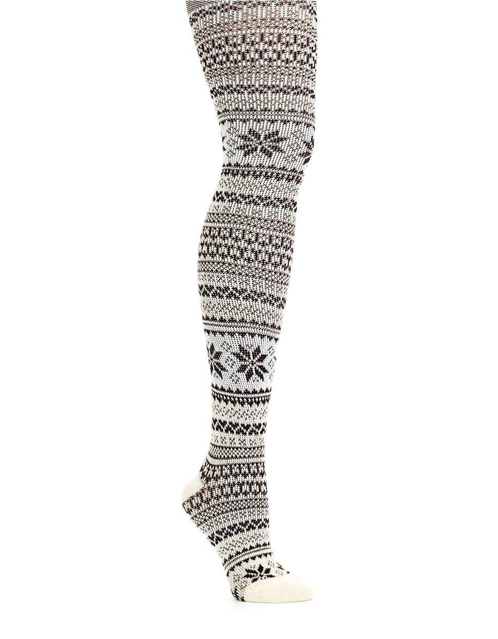 Hue Fairisle Sweater Tights in Gray | Lyst