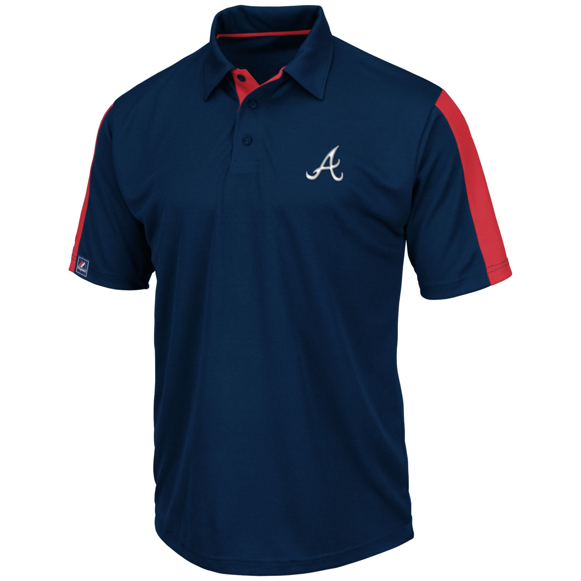 majestic mens shortsleeve atlanta braves performance polo in blue for navy lyst