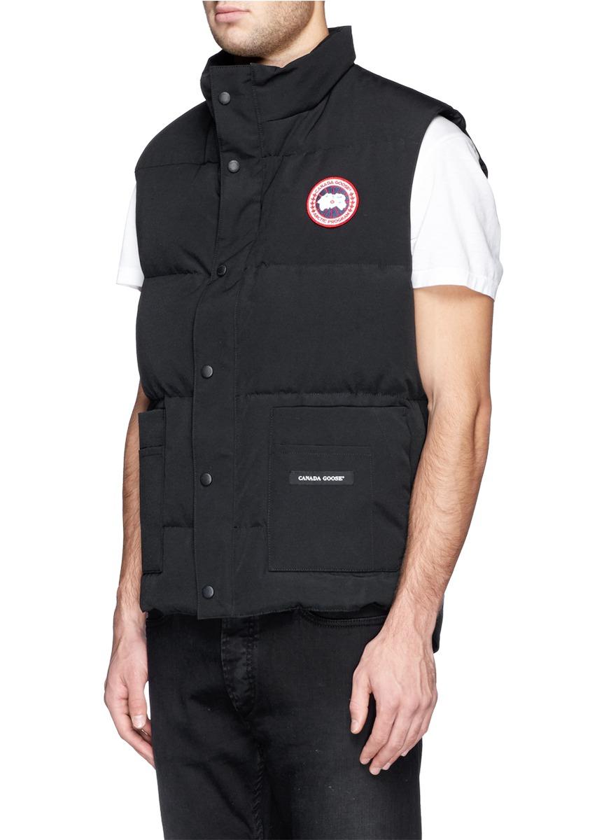 lyst canada goose freestyle down vest in black for men rh lyst com