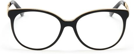Gucci Metal Arm Acetate Frame Optical Glasses in Black Lyst