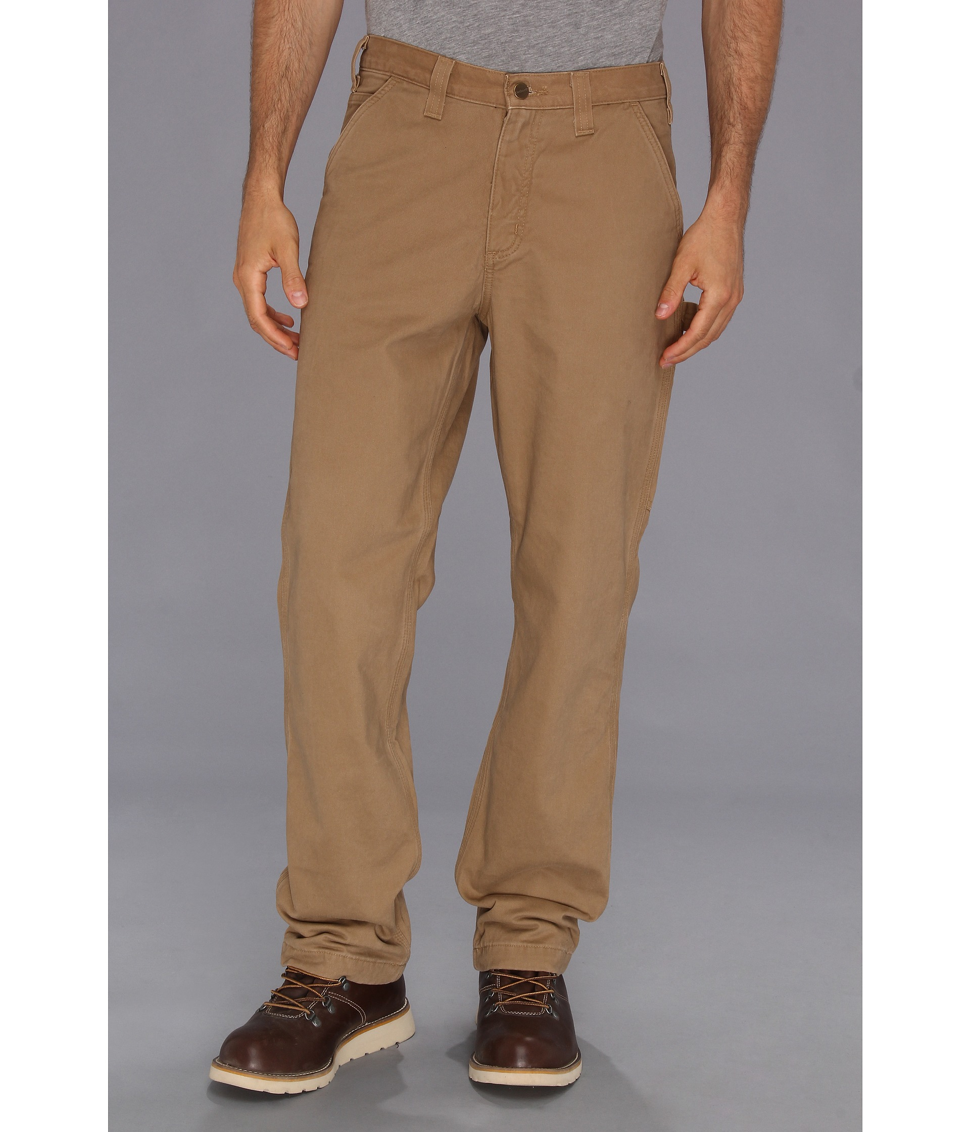 9b02d1b3ef Carhartt Washed Twill Dungaree Flannel Lined Pant in Natural for Men ...