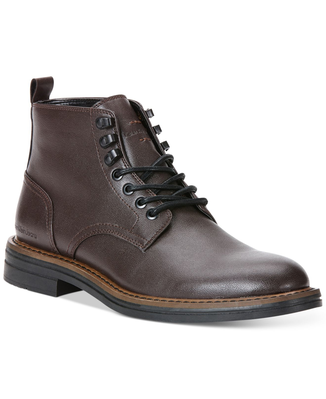 Calvin Klein Jeans Edmond Smooth Boots In Brown For Men Lyst