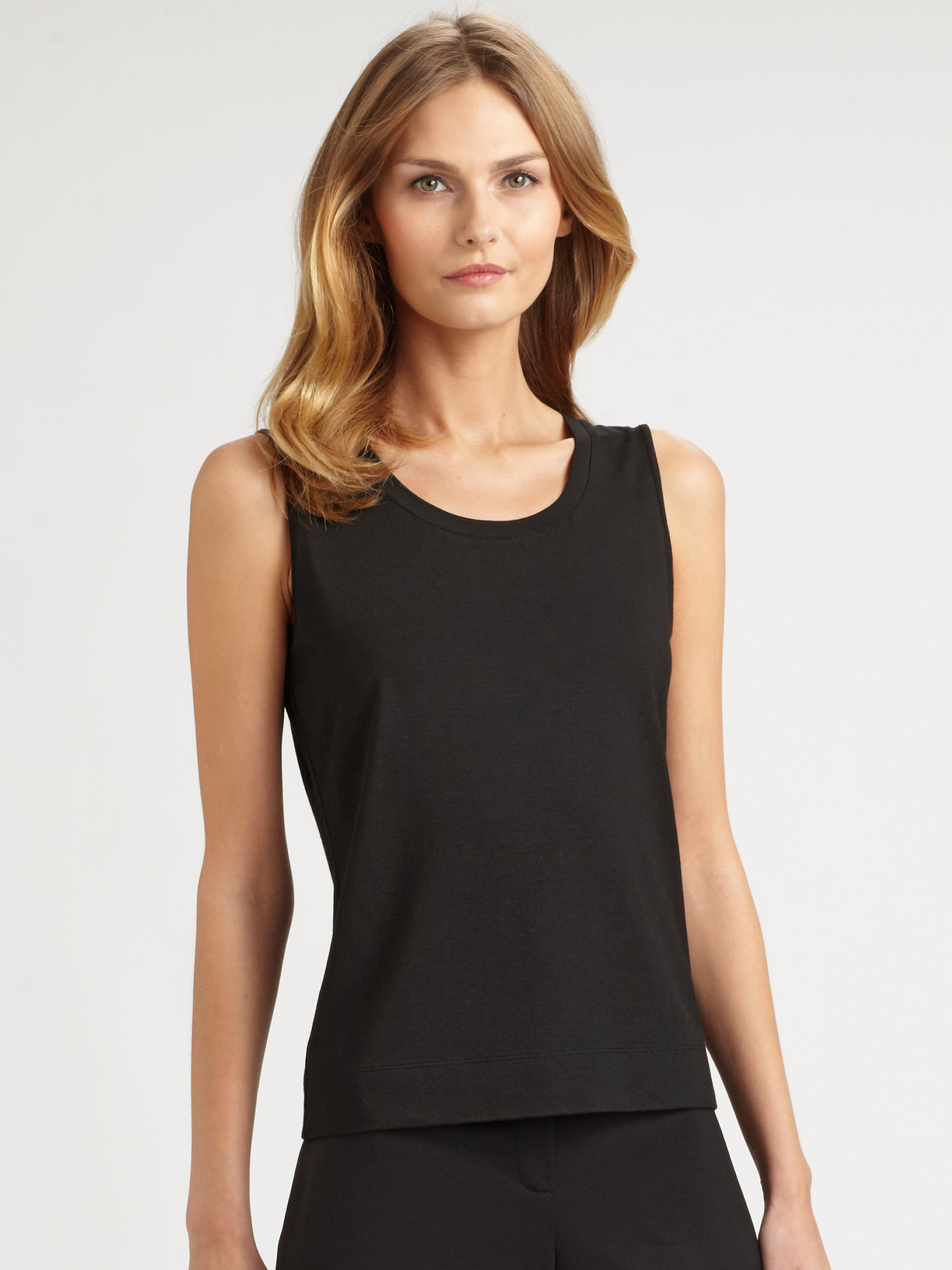 148 Best Images About Craft Ideas For Girls On Pinterest: Lafayette 148 New York Jersey Tank Top In Black