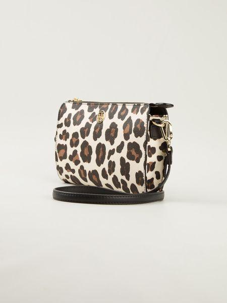 Tory Burch Leopard Print Shoulder Bag In Animal Nude