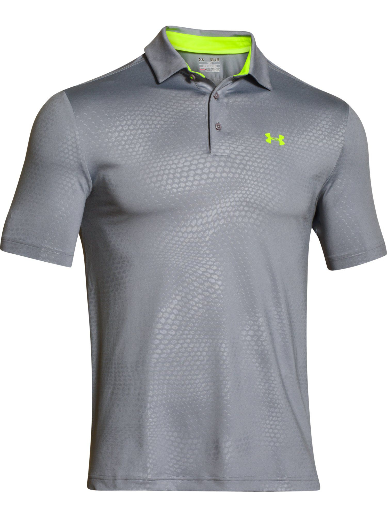 Under Armour Playoff Rattled Textured Polo Shirt In Gray