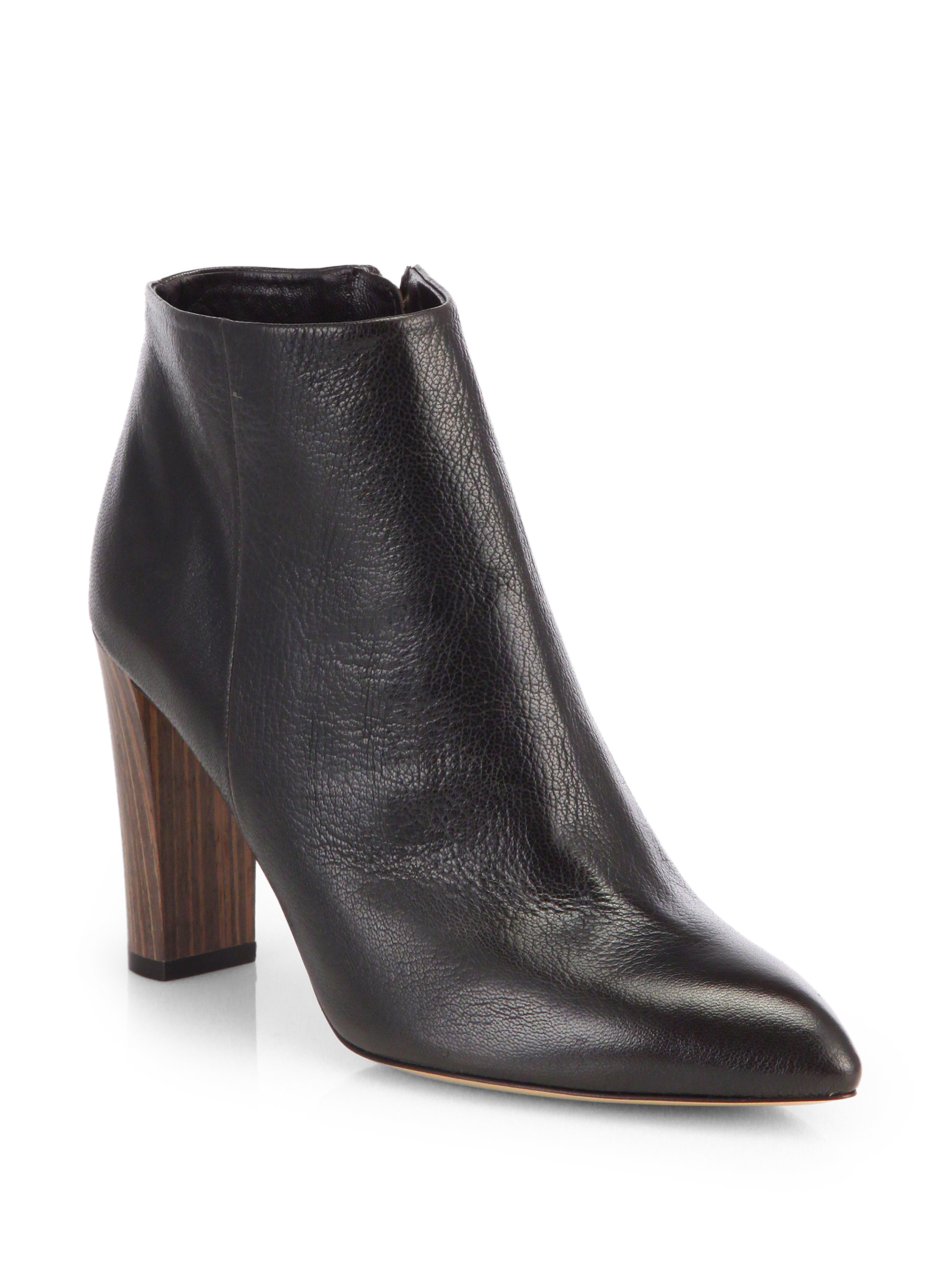 Kate Spade Nita Leather Ankle Boots In Brown Lyst