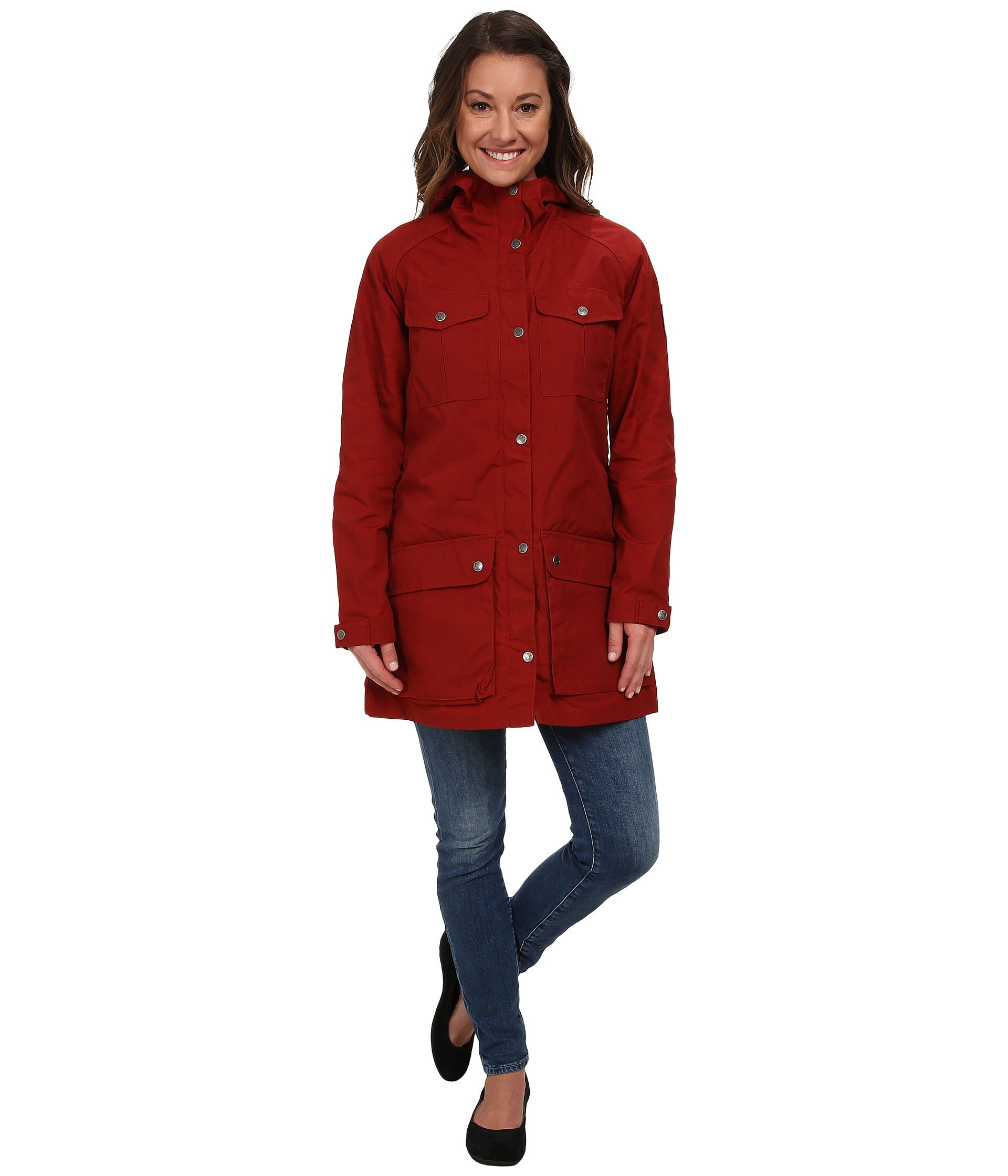 Fjallraven Greenland Parka Light in Red | Lyst