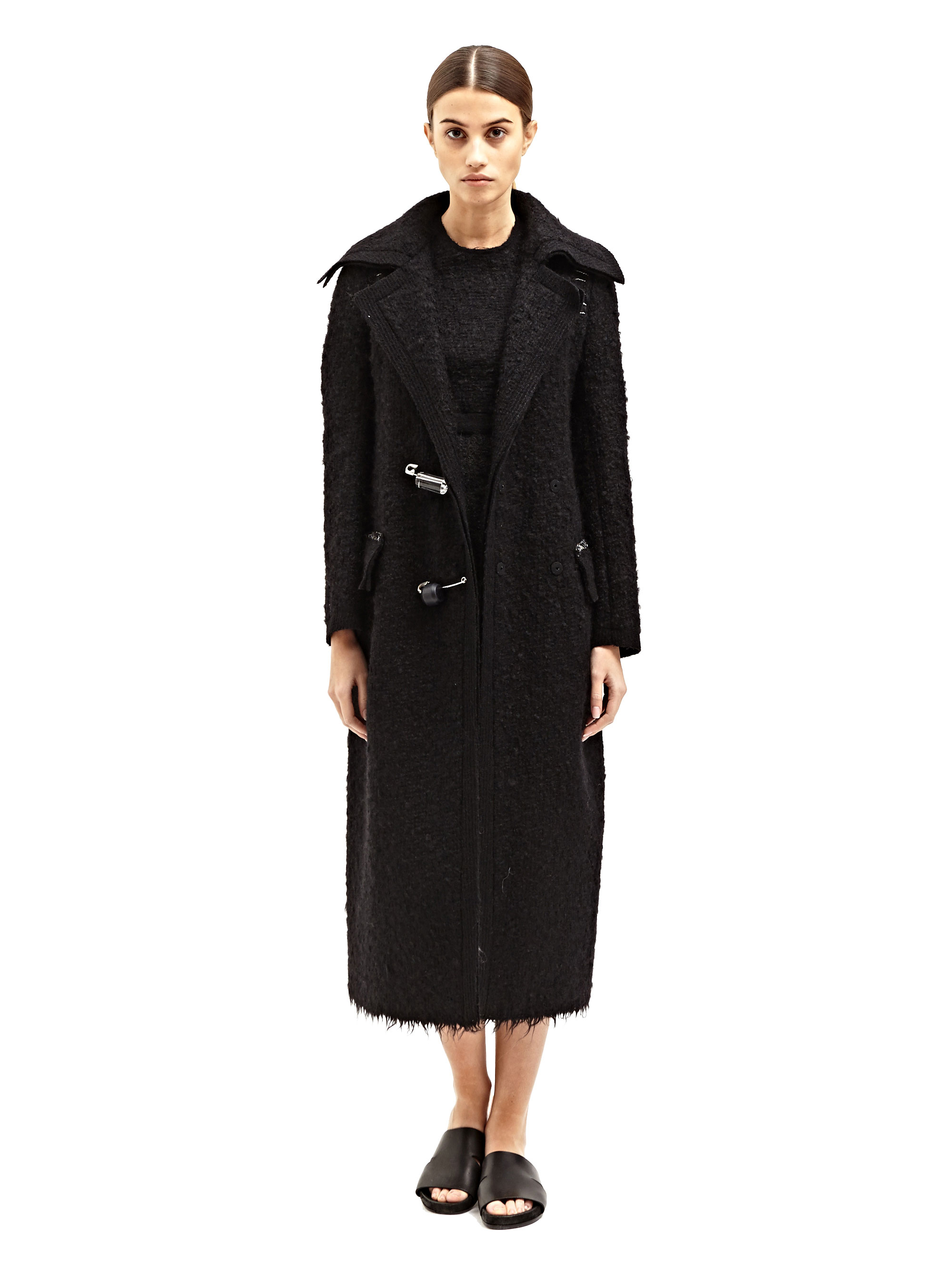 5b0afa192d Lyst - Calvin Klein Collection Womens Arlor Coat in Black