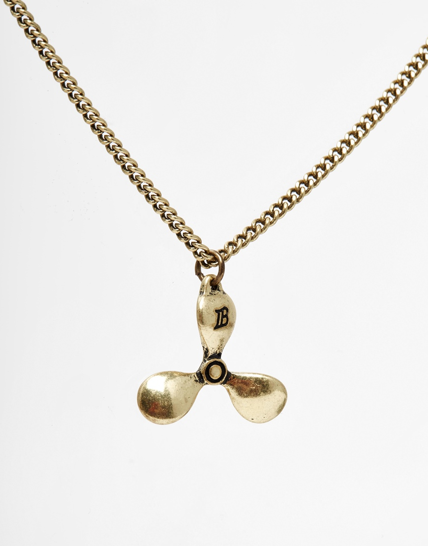Lyst icon brand propeller necklace in metallic for men gallery mozeypictures Gallery