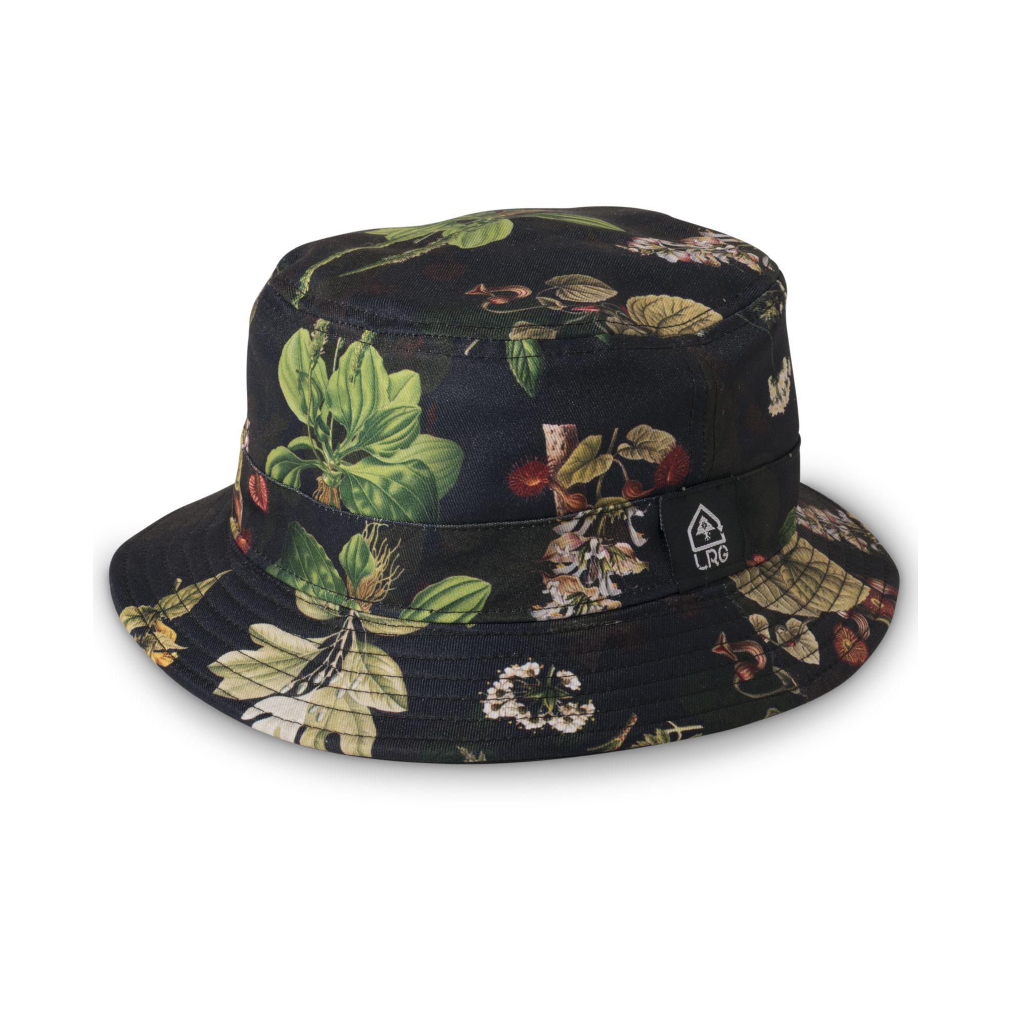 f3ae5803072 Lyst - LRG Floral Print Bucket Hat in Black for Men