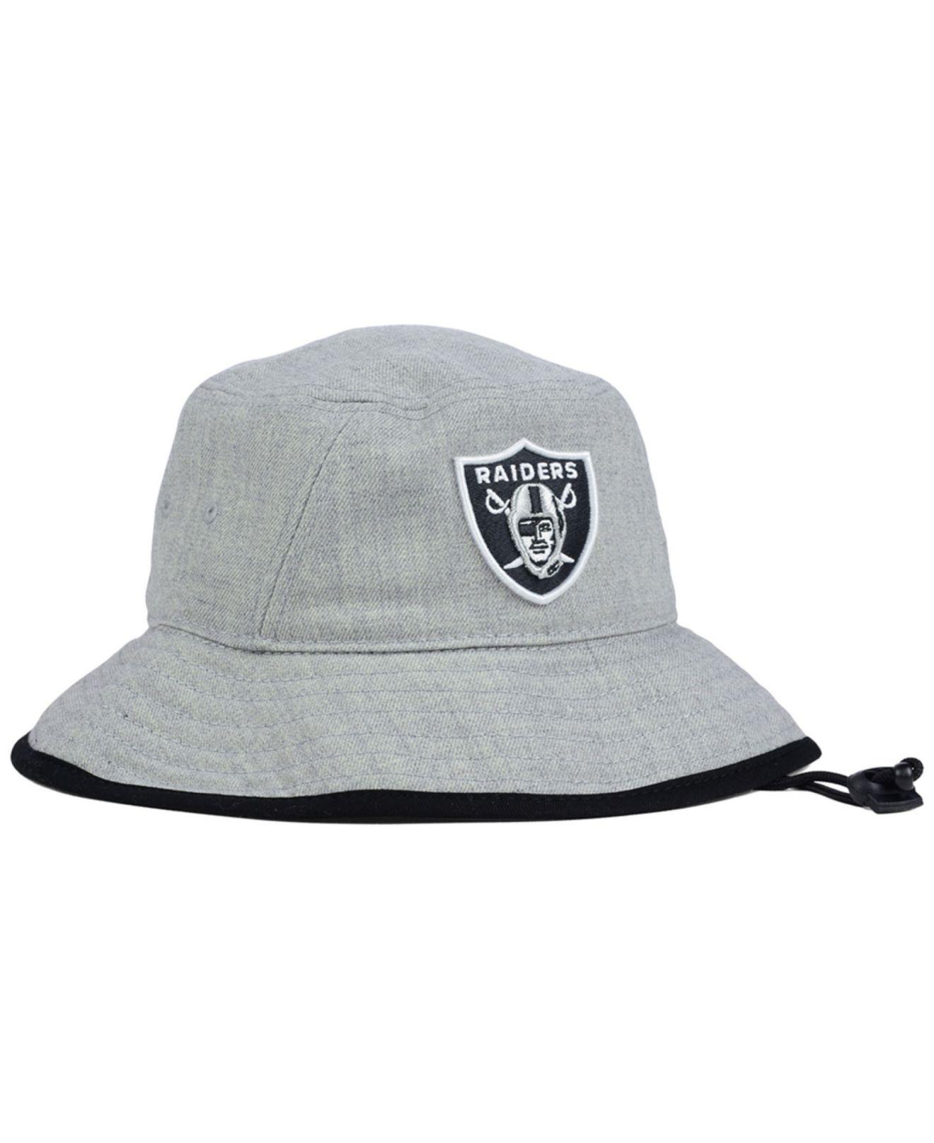 615b887e68b Lyst - KTZ Oakland Raiders Nfl Heather Gray Bucket Hat in Gray