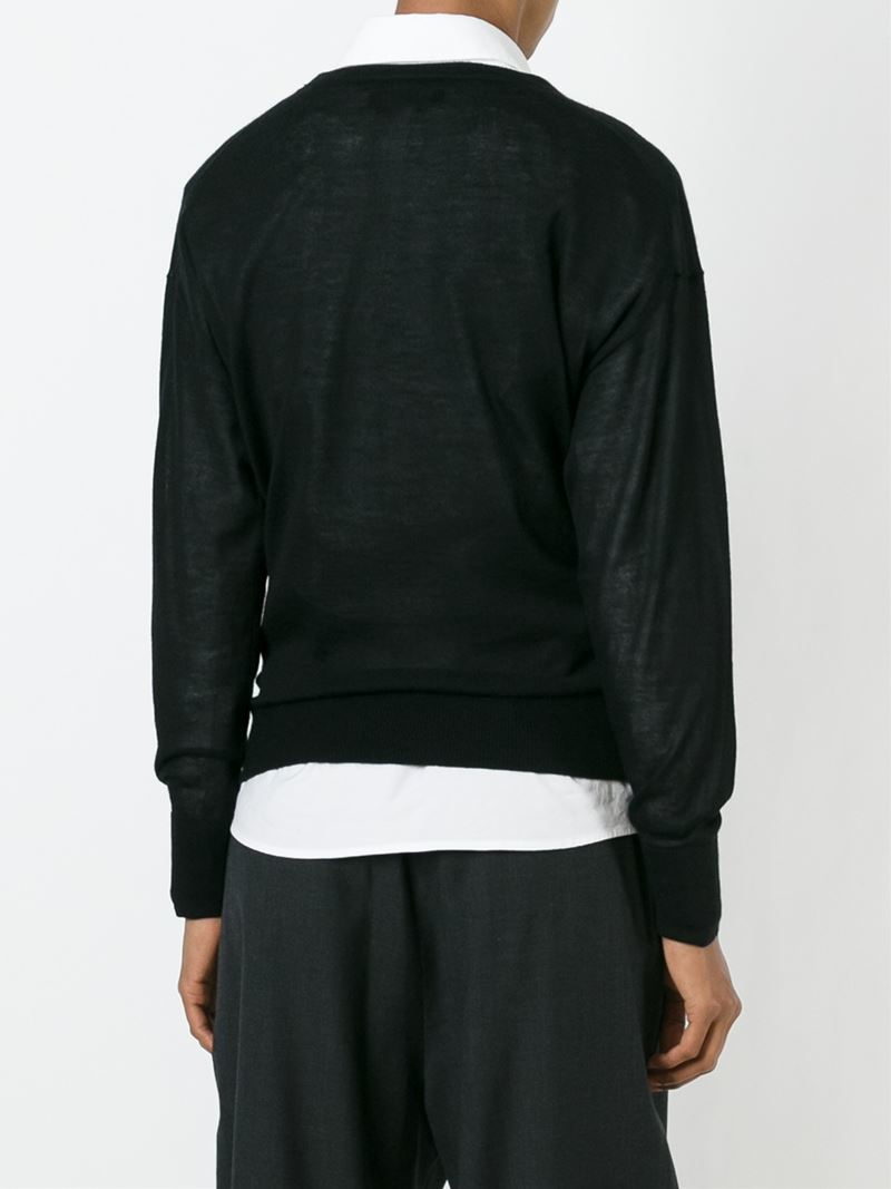 isabel marant draped sweater in black lyst. Black Bedroom Furniture Sets. Home Design Ideas