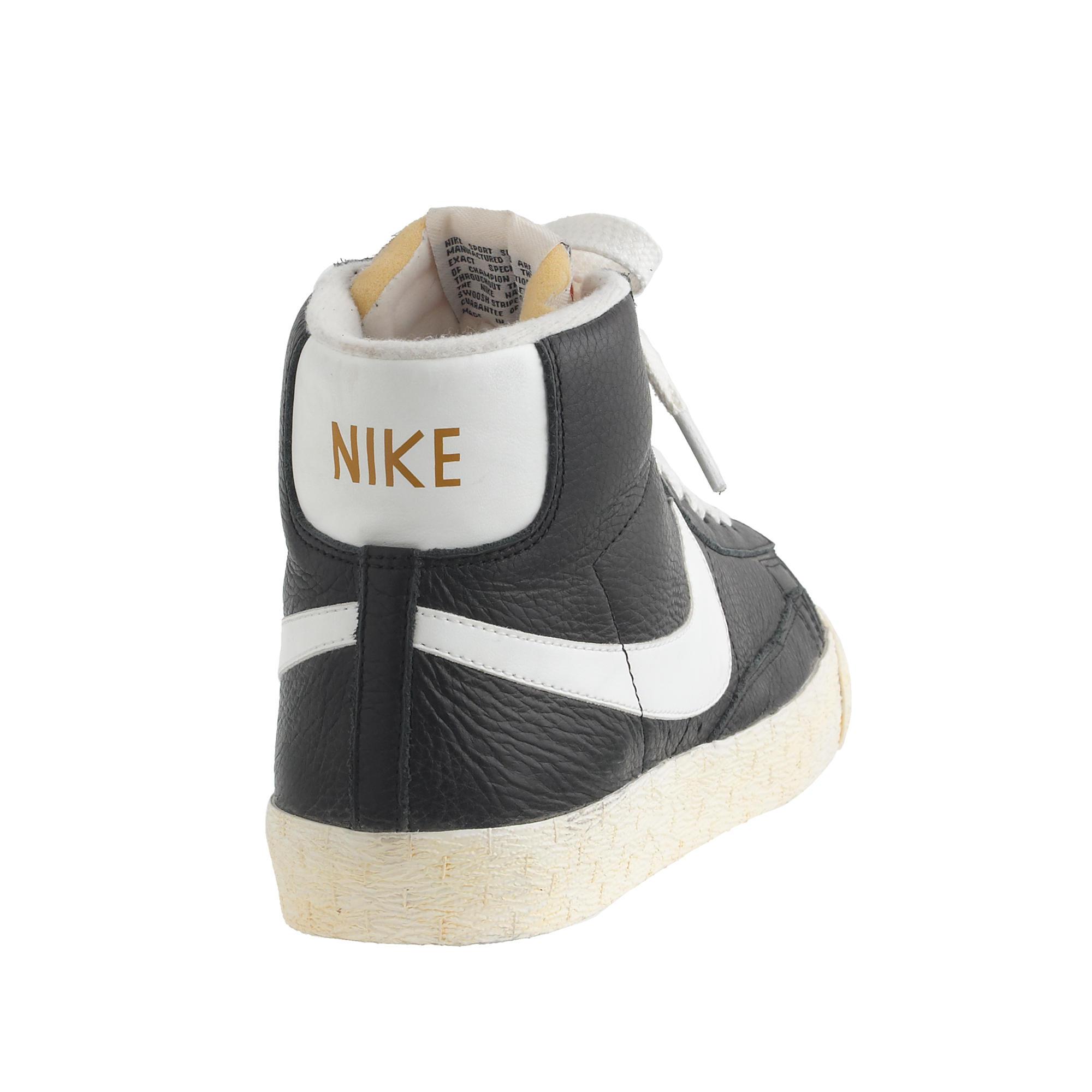 98368c6849 ... Lyst - J.Crew Women s Nike Blazer Mid Vintage Sneakers In Black in  Black ...