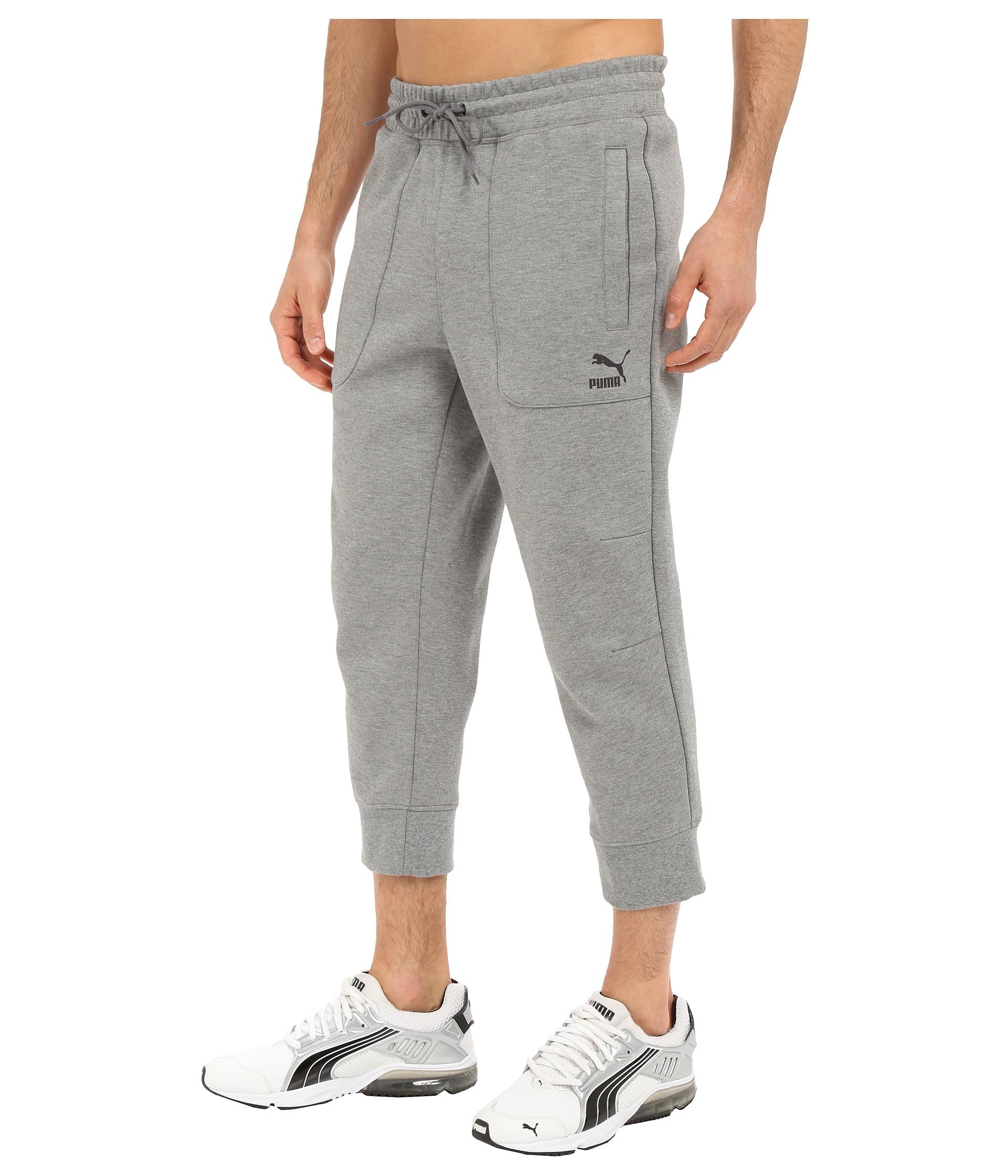 Lyst - PUMA Evo Sweat 3 4 Pants in Gray for Men a782647b4f213
