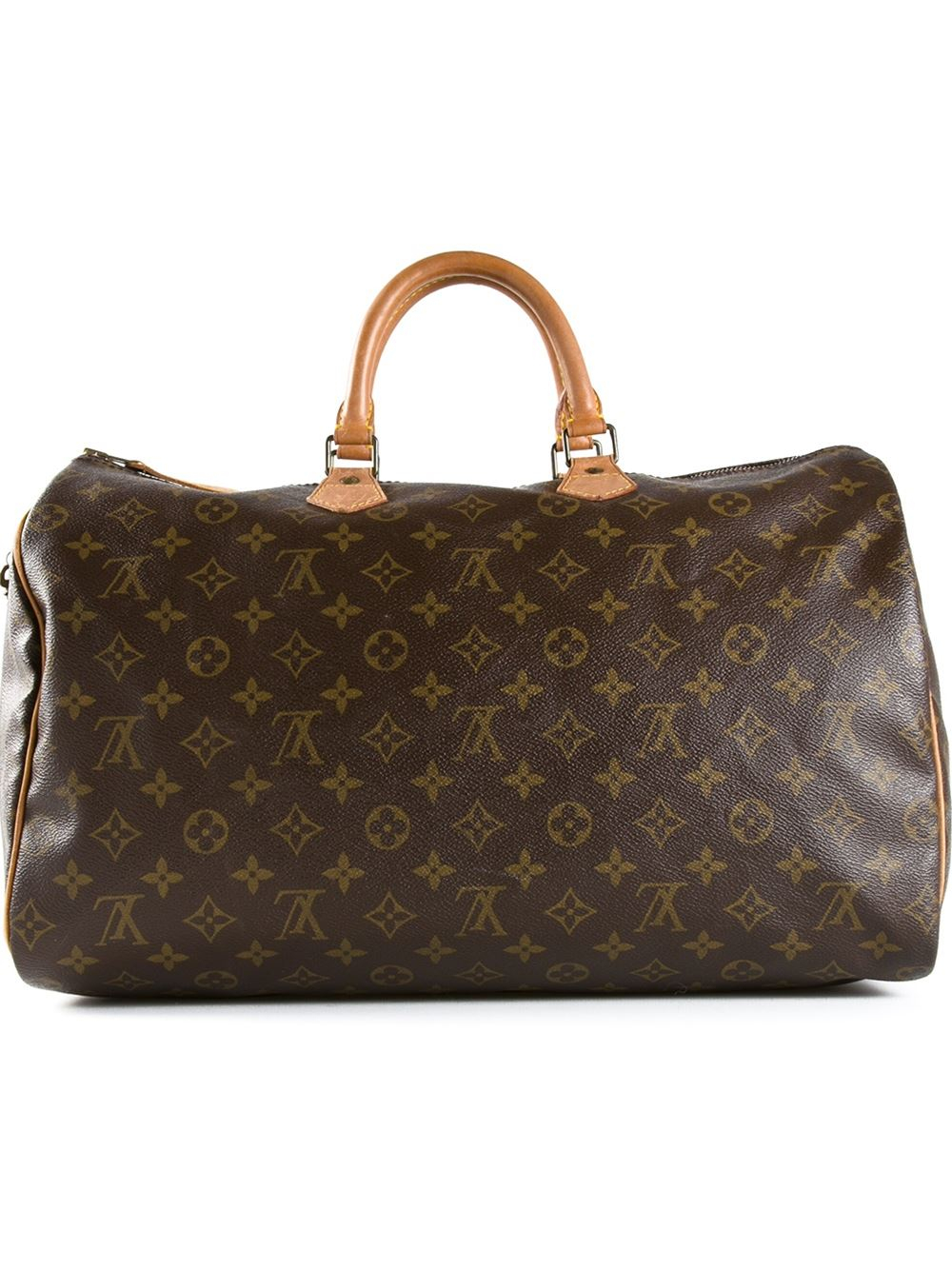 Louis vuitton Monogram Speedy 40 Bag in Brown | Lyst