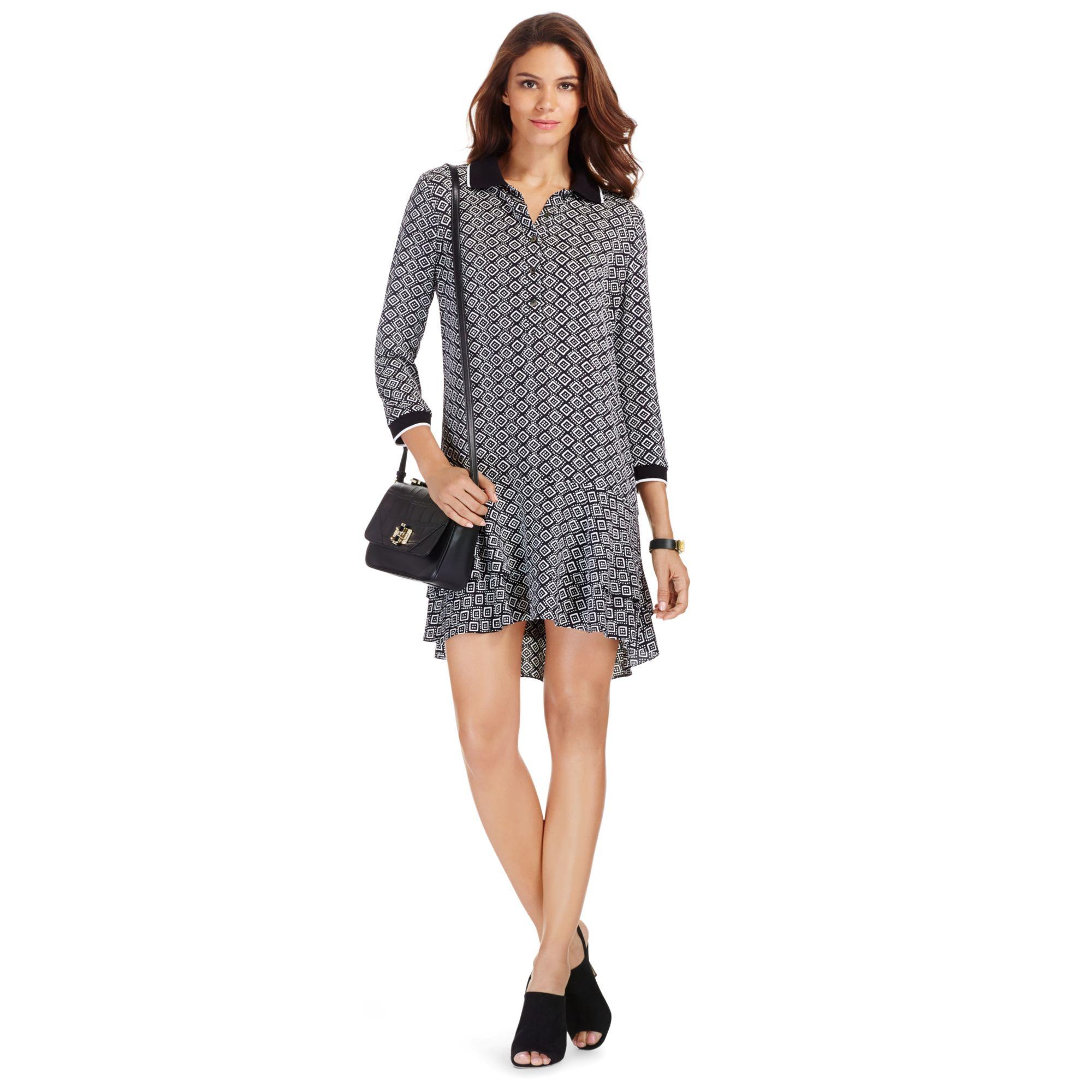 Diane von furstenberg dvf samuella mini silk shirt dress for Diane von furstenberg shirt