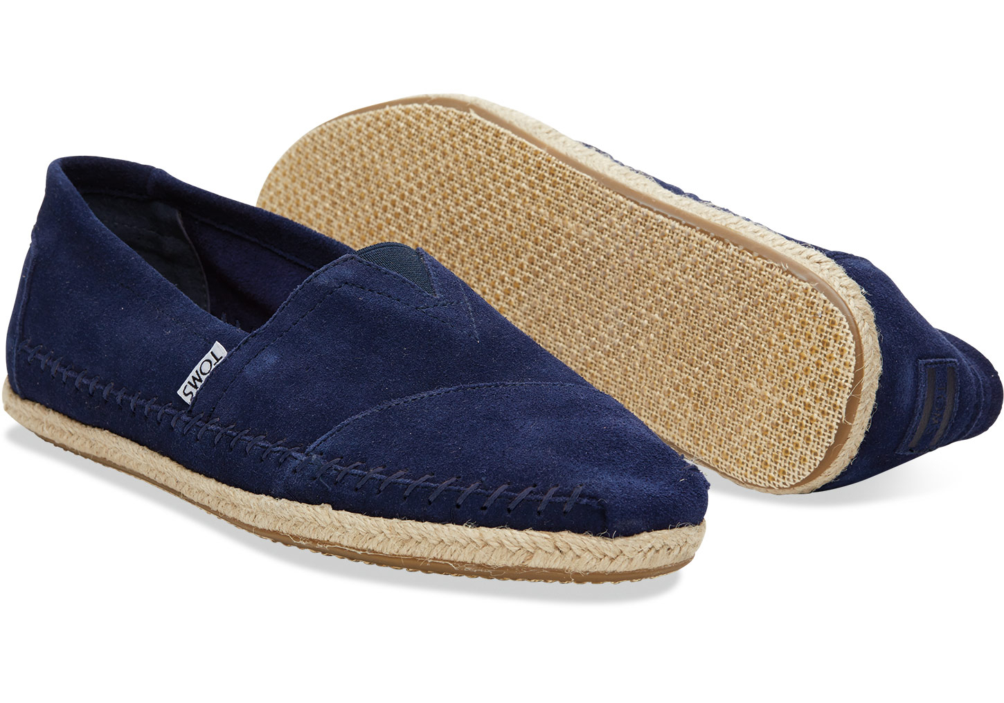 4b99499ea79 Lyst - TOMS Navy Suede Rope Sole Men s Classics in Blue for Men