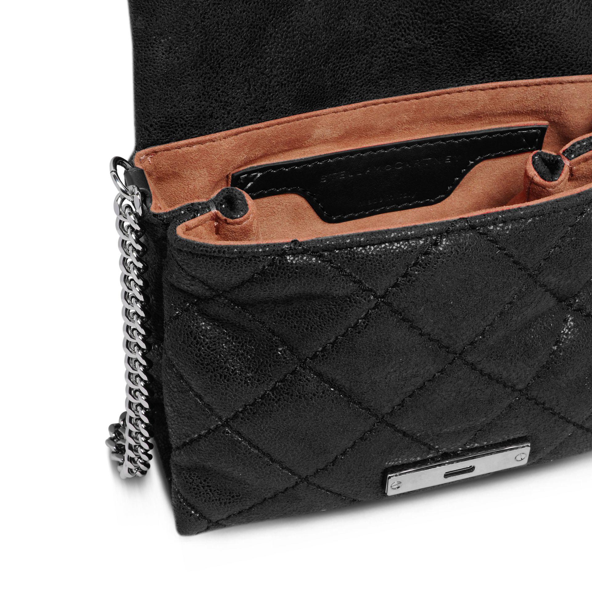 d96e05fee0 Lyst - Stella McCartney Black Becks Mini Shoulder Bag in Black