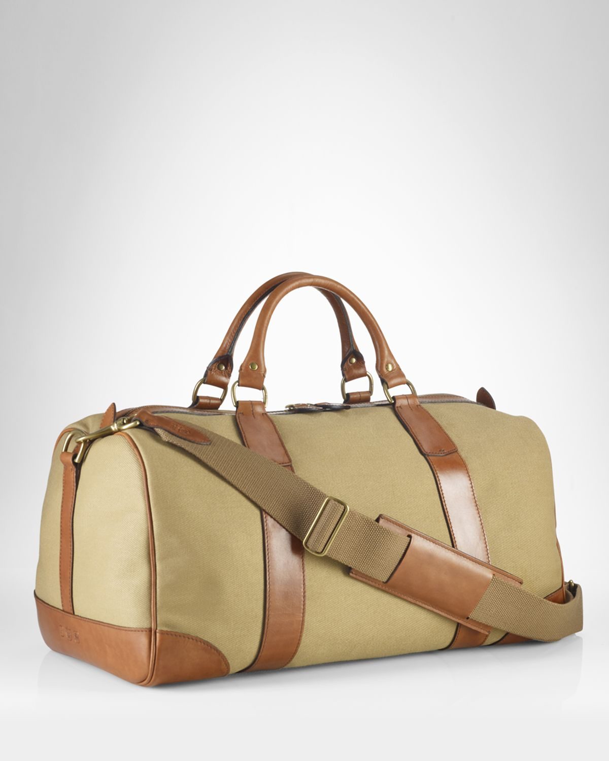 b07f46784d Lyst - Ralph Lauren Polo Canvas Gym Bag in Natural for Men