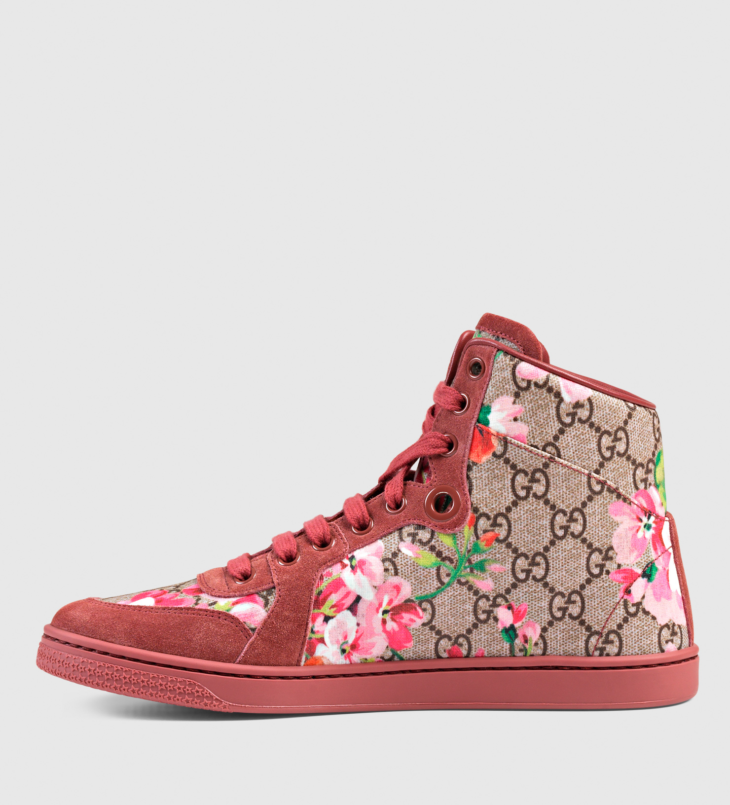 gucci coda gg blooms high top sneaker lyst. Black Bedroom Furniture Sets. Home Design Ideas
