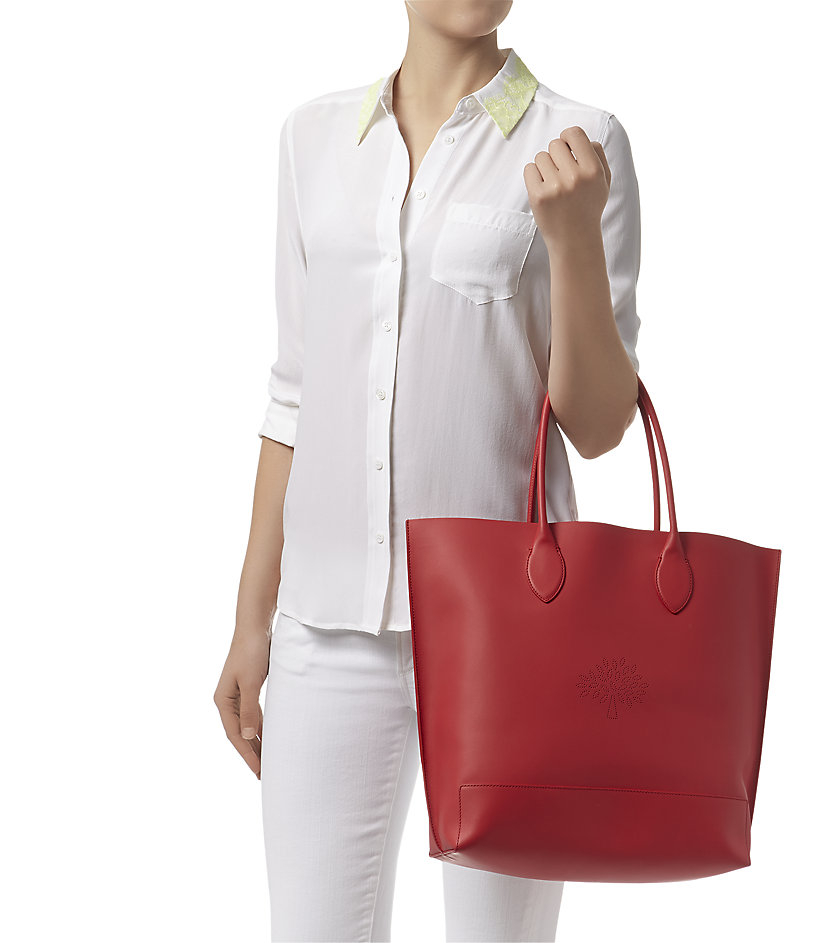 94bbbe60b3 ... shop mulberry blossom calf nappa tote in pink lyst 2eb6d b6dfb