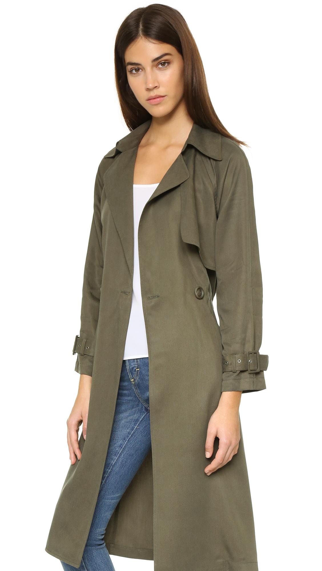 Best Lyst - Michelle Mason Trench Coat in Green GX97