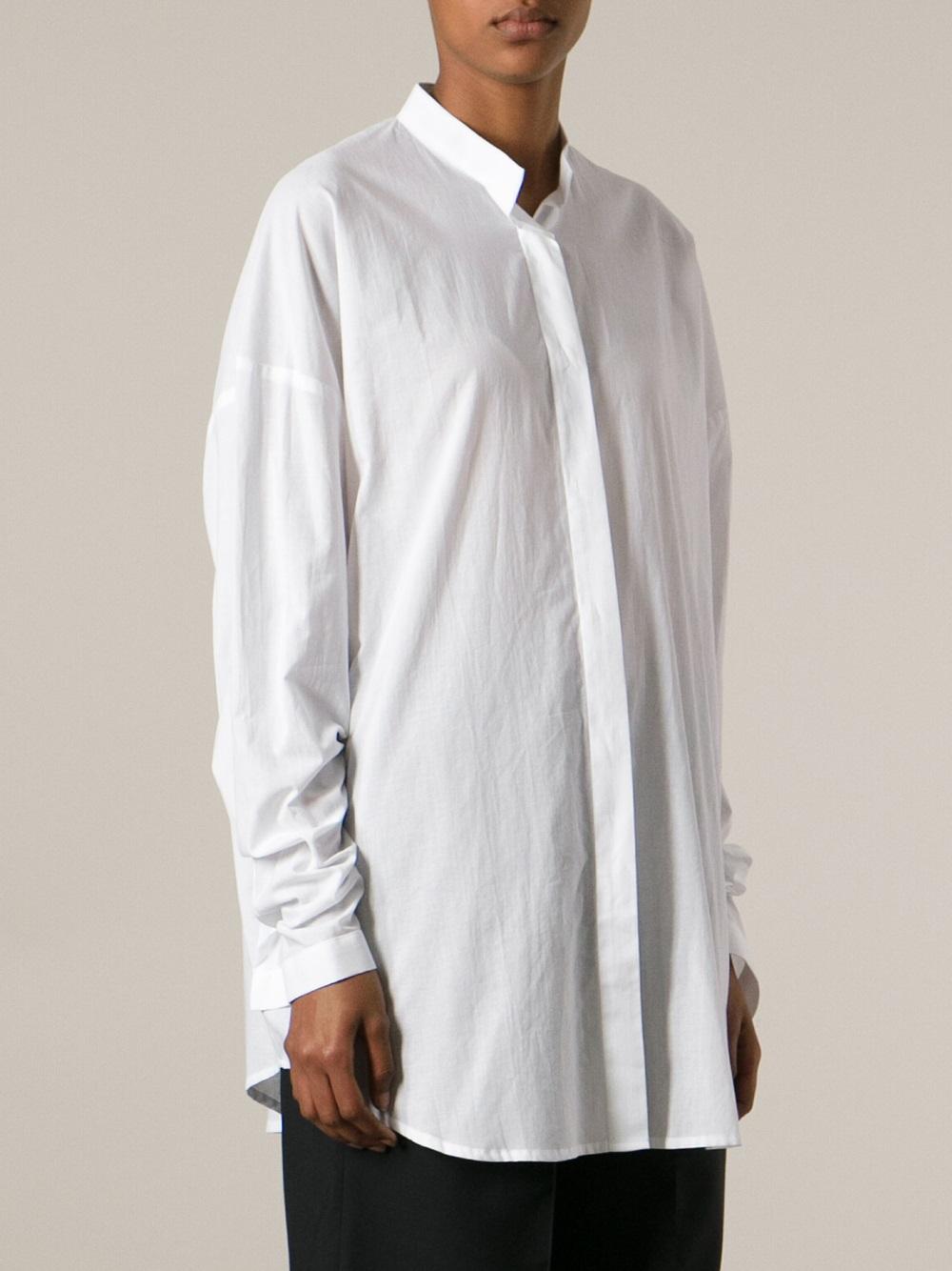 oversized shirt - White Haider Ackermann Huge Surprise Cheap Price tD8Dx95GK3