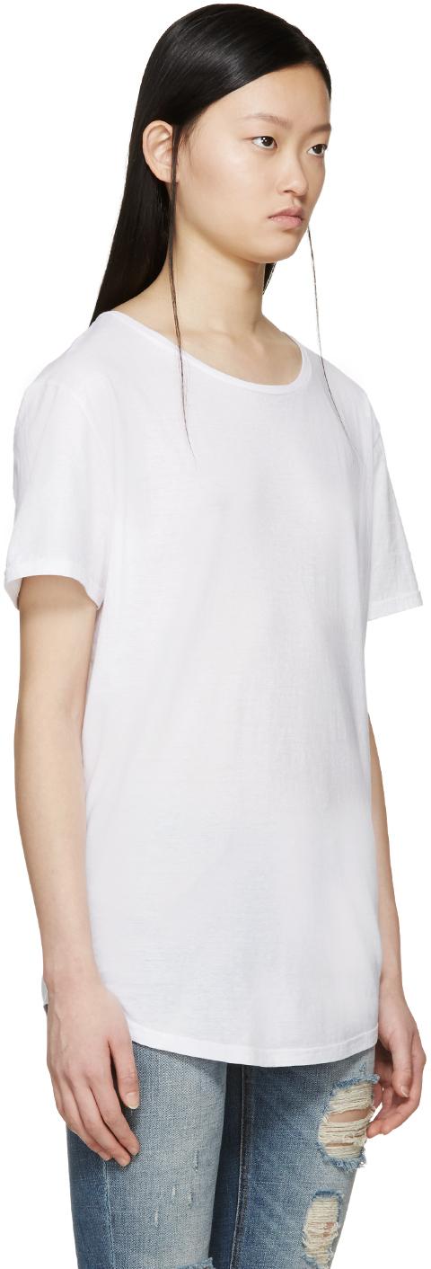 Dolce gabbana white cotton t shirt in white lyst for Dolce gabbana t shirt women