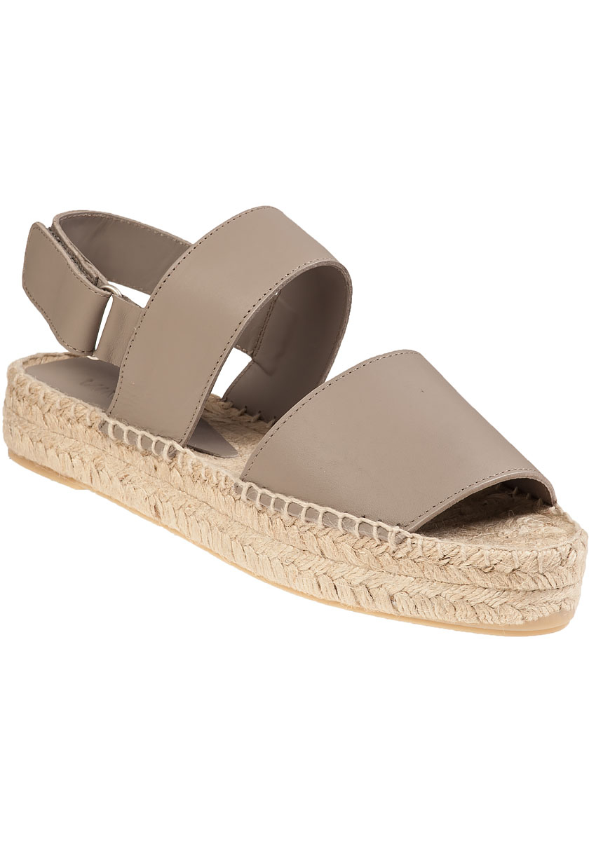 dfeeb4939e5 Lyst - Vince Emilia Platform Espadrille Woodsmoke Leather in Natural