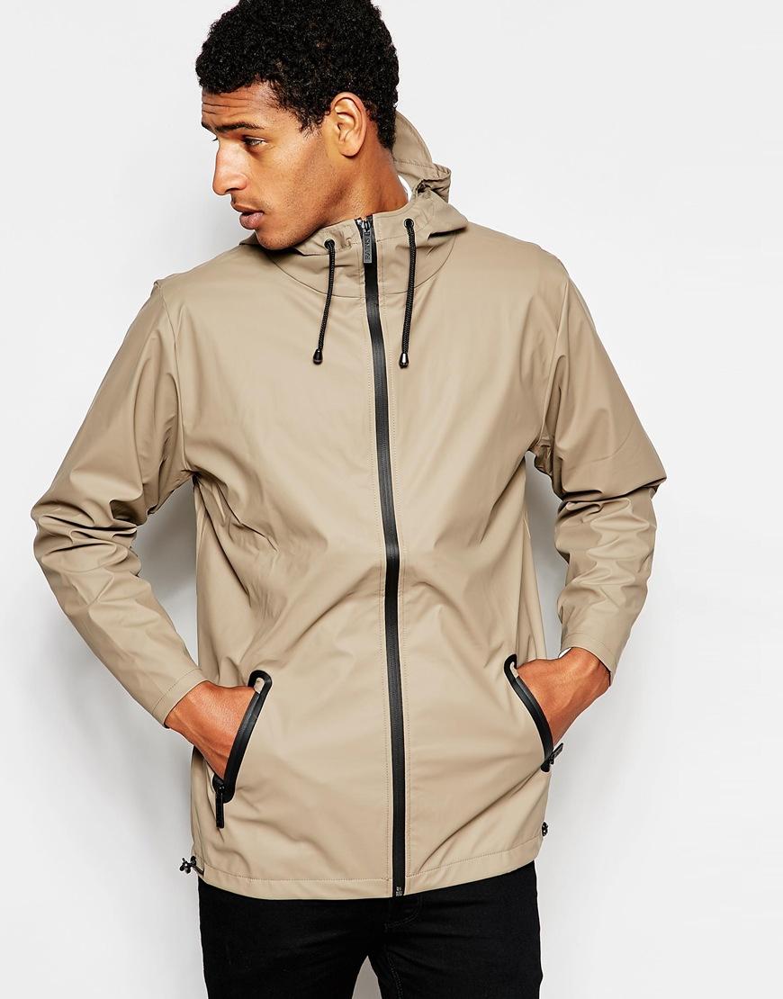Rains Waterproof Jacket With Zip in Brown for Men | Lyst