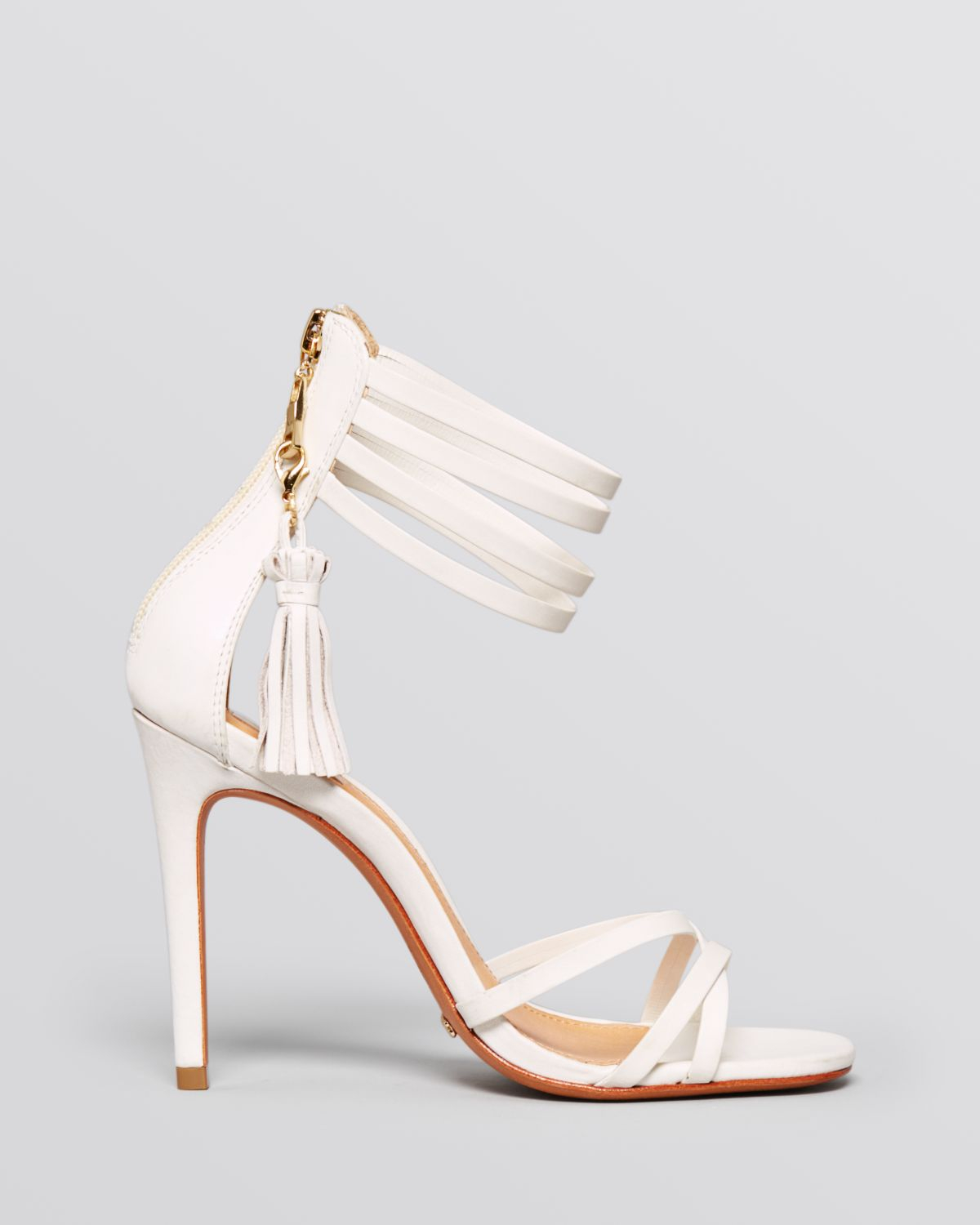 White High Heel Sandals - Is Heel