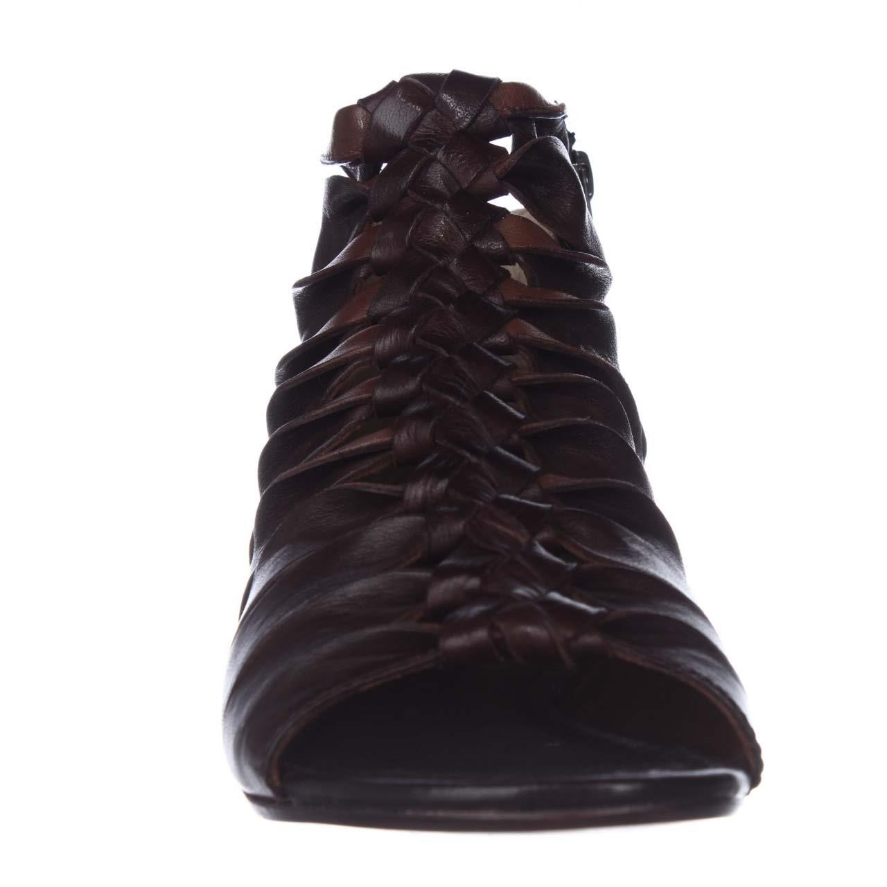 frye marlene twisted flat gladiator sandals in black