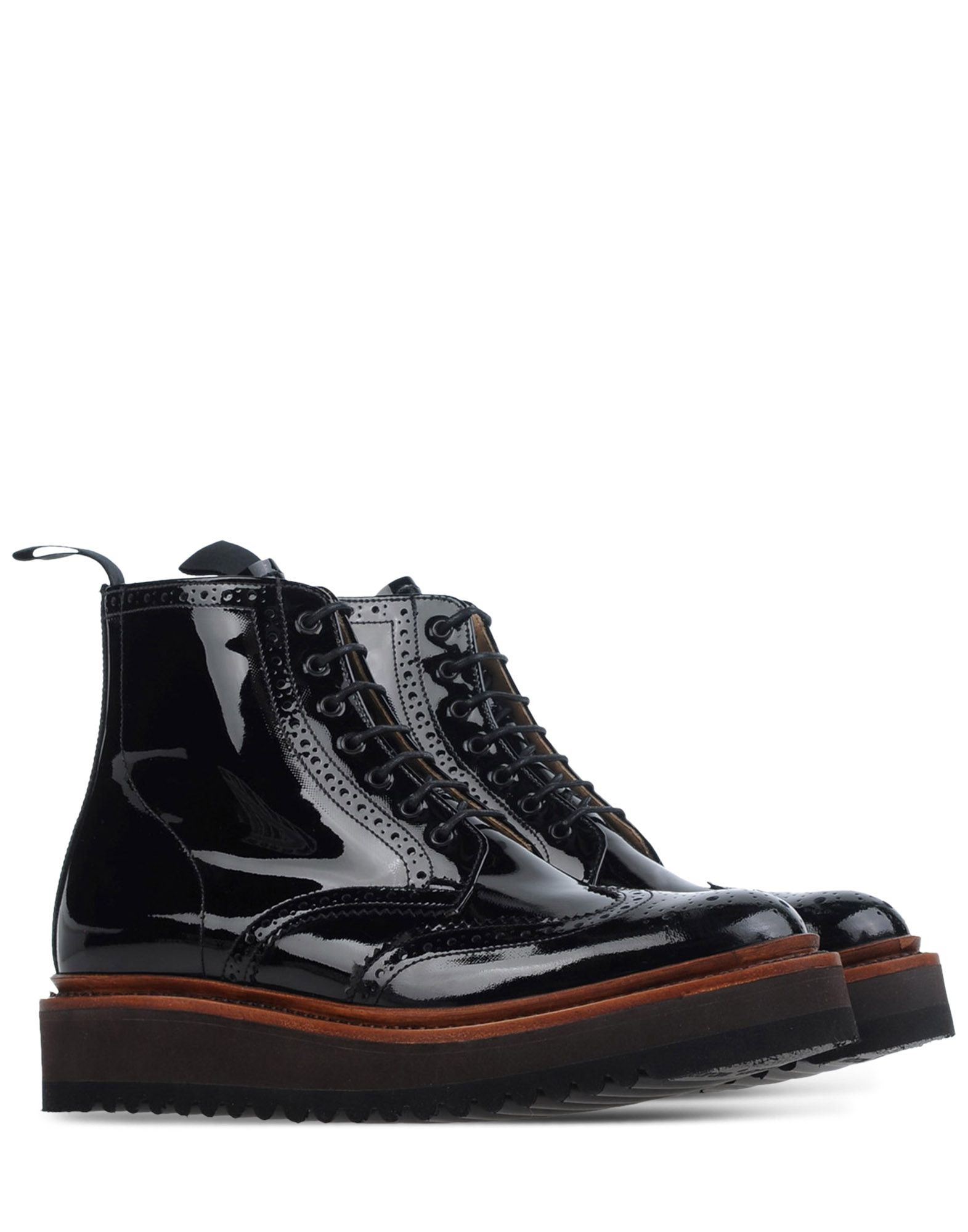grenson ankle boots in black lyst