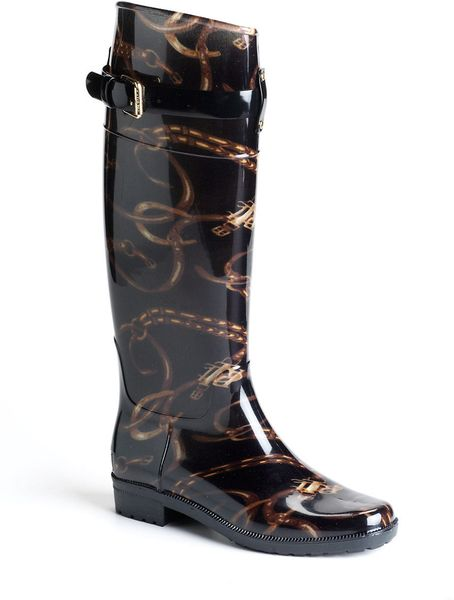 Lauren By Ralph Lauren Rossalyn Rain Boots In Black Lyst