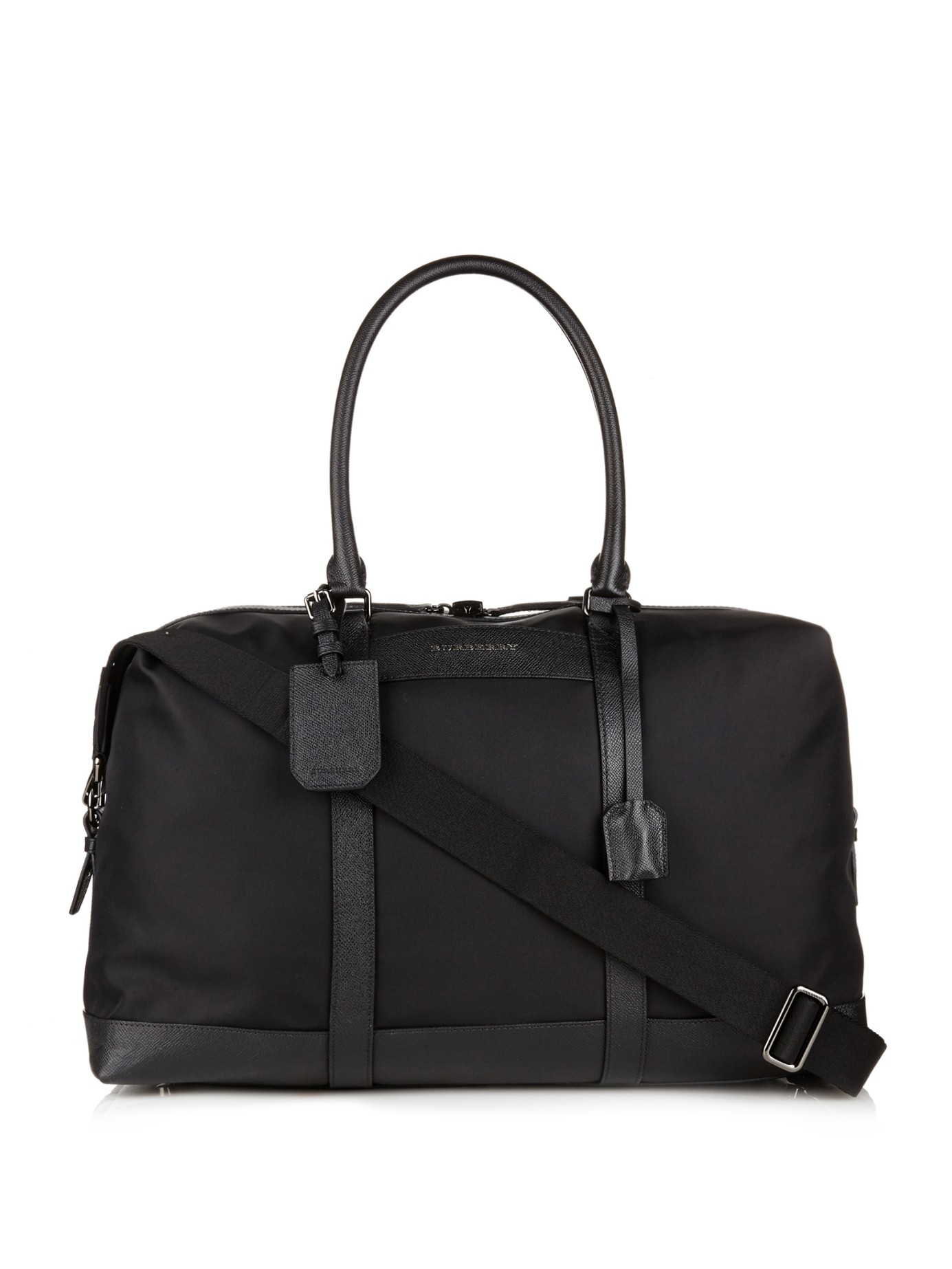 Burberry Kingswood Nylon Weekend Bag in Black for Men | Lyst