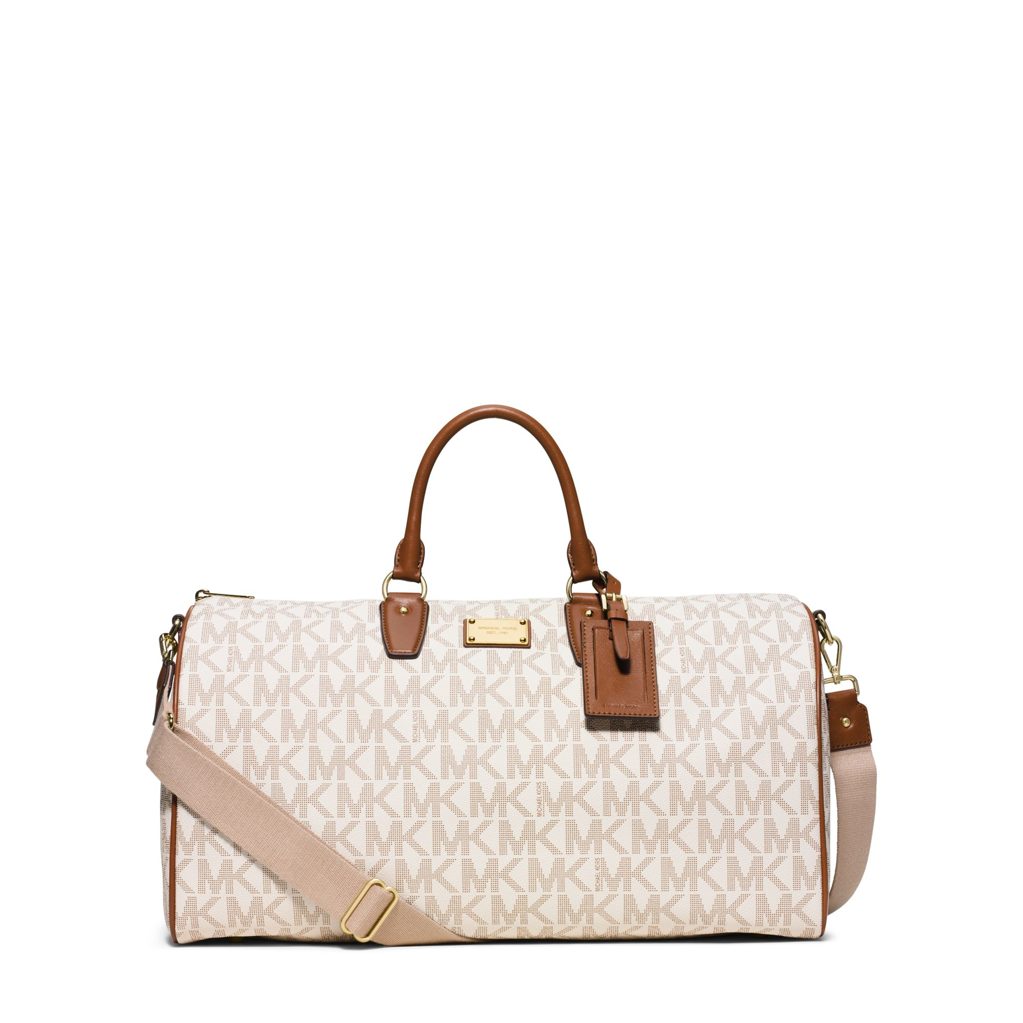 fc0a96b578c0 Lyst - Michael Kors Jet Set Travel Weekender in White