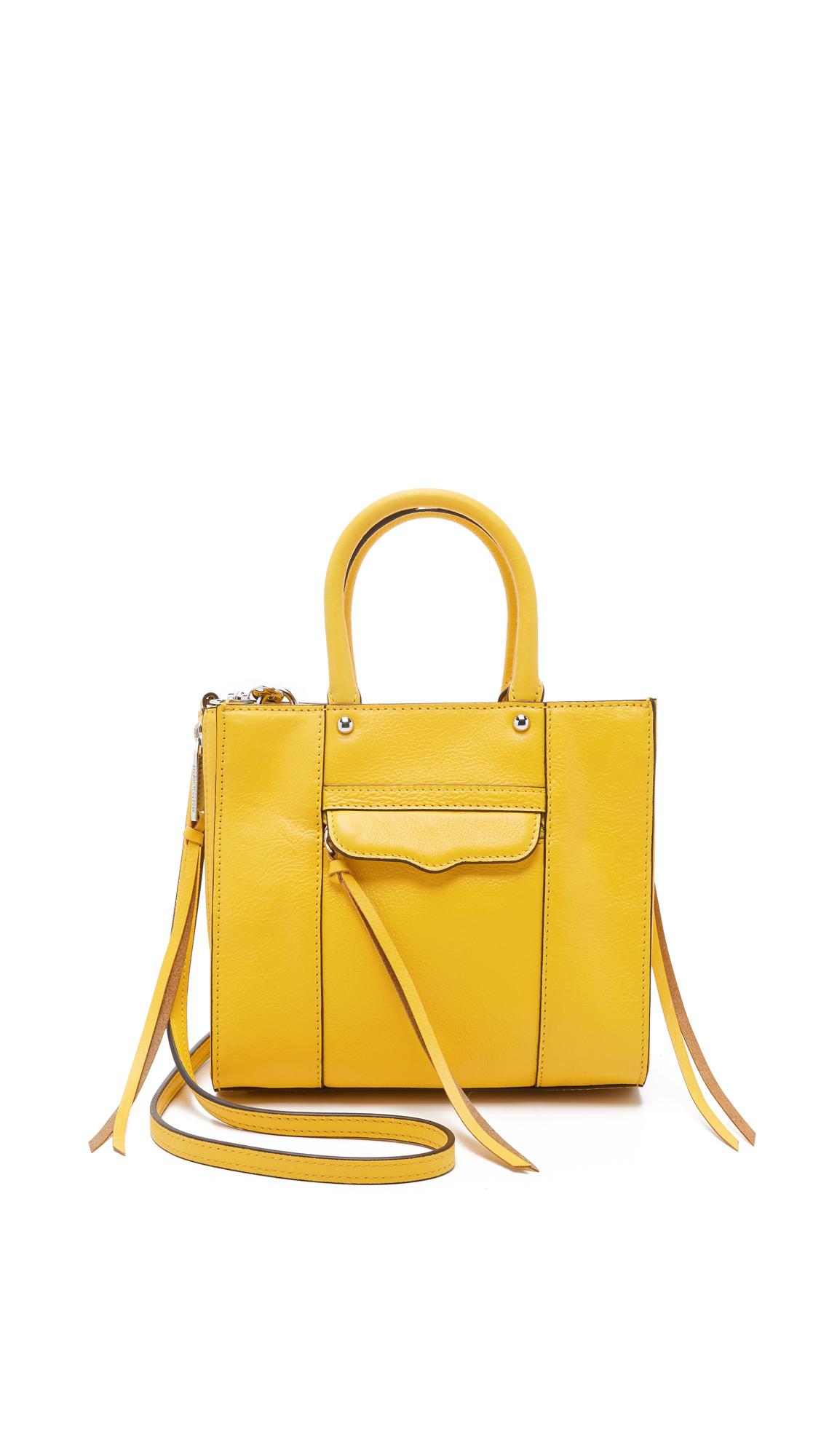 2b3ff9c68b Rebecca Minkoff Side Zip Mini Mab Tote in Yellow - Lyst