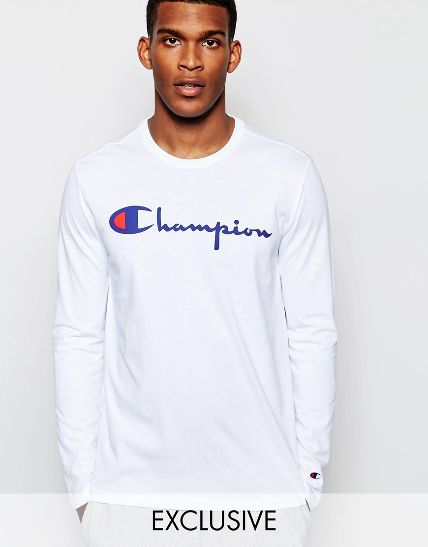 Champion Long Sleeve T-shirt With Script Logo Exclusive To Asos in ...