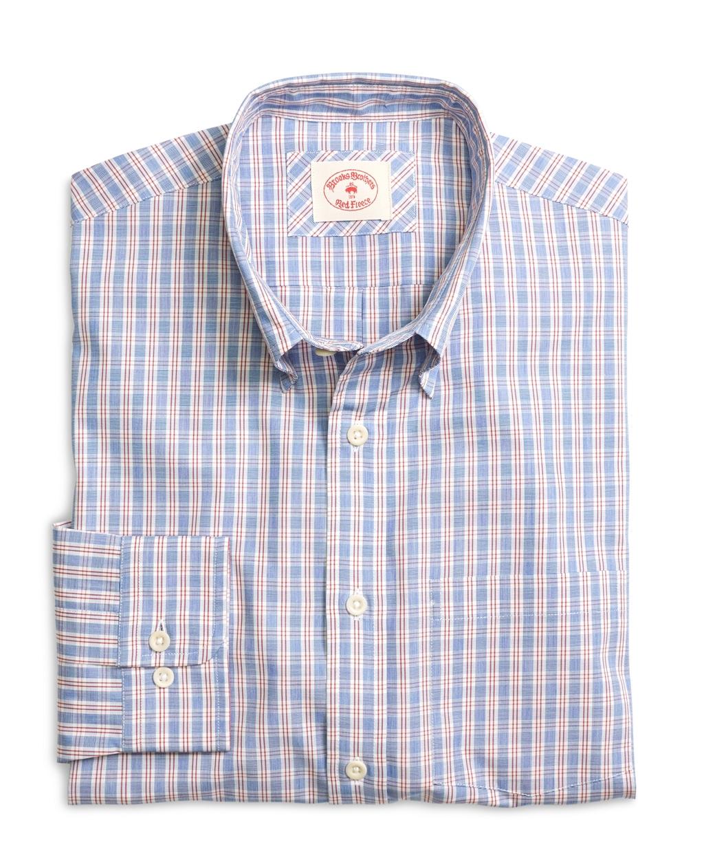 Brooks brothers white organic cotton check sport shirt for Brooks brothers sports shirts