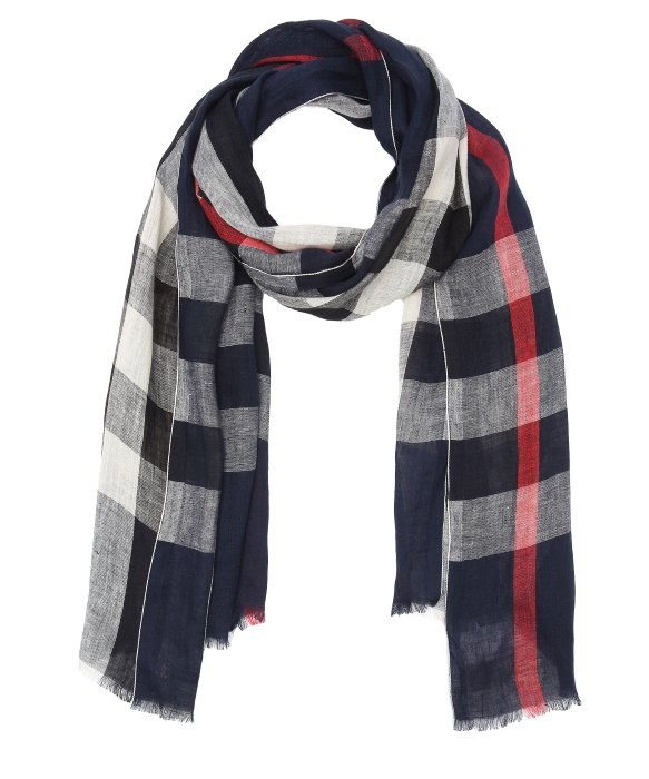 bc73d1c6710 ... discount lyst burberry navy nova check linen giant scarf in blue for  men e3b1c 20a0f