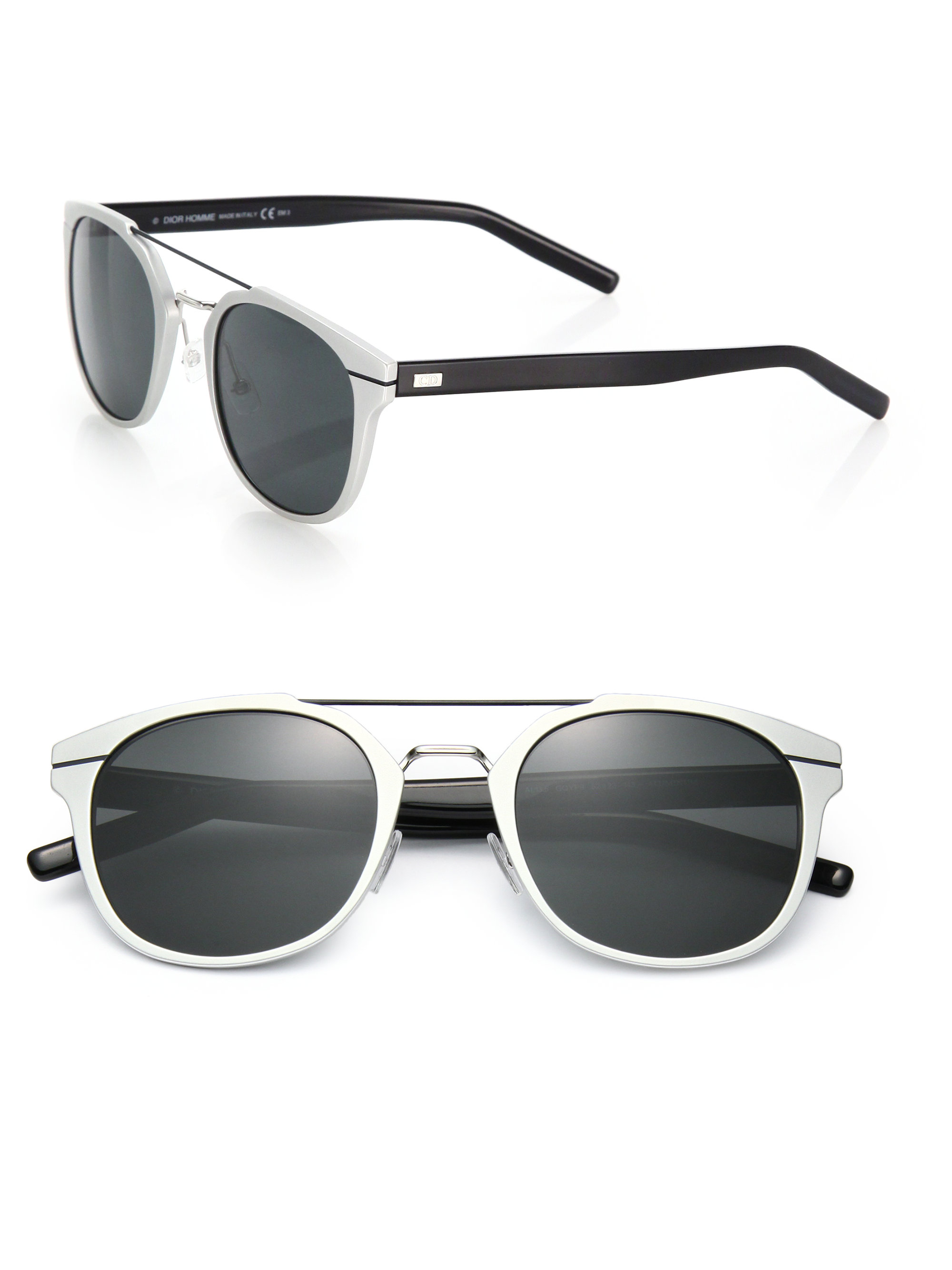 Dior Metal Eyeglass Frames : Dior homme Metal Round Sunglasses in Metallic for Men Lyst