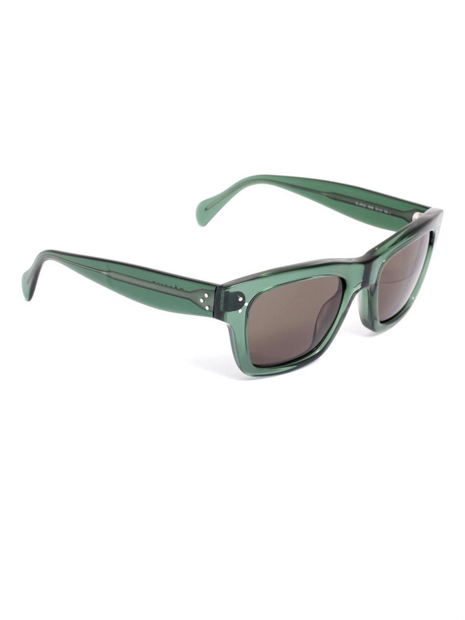 941525daf1b2 Céline Transparent Square Sunglasses in Green - Lyst