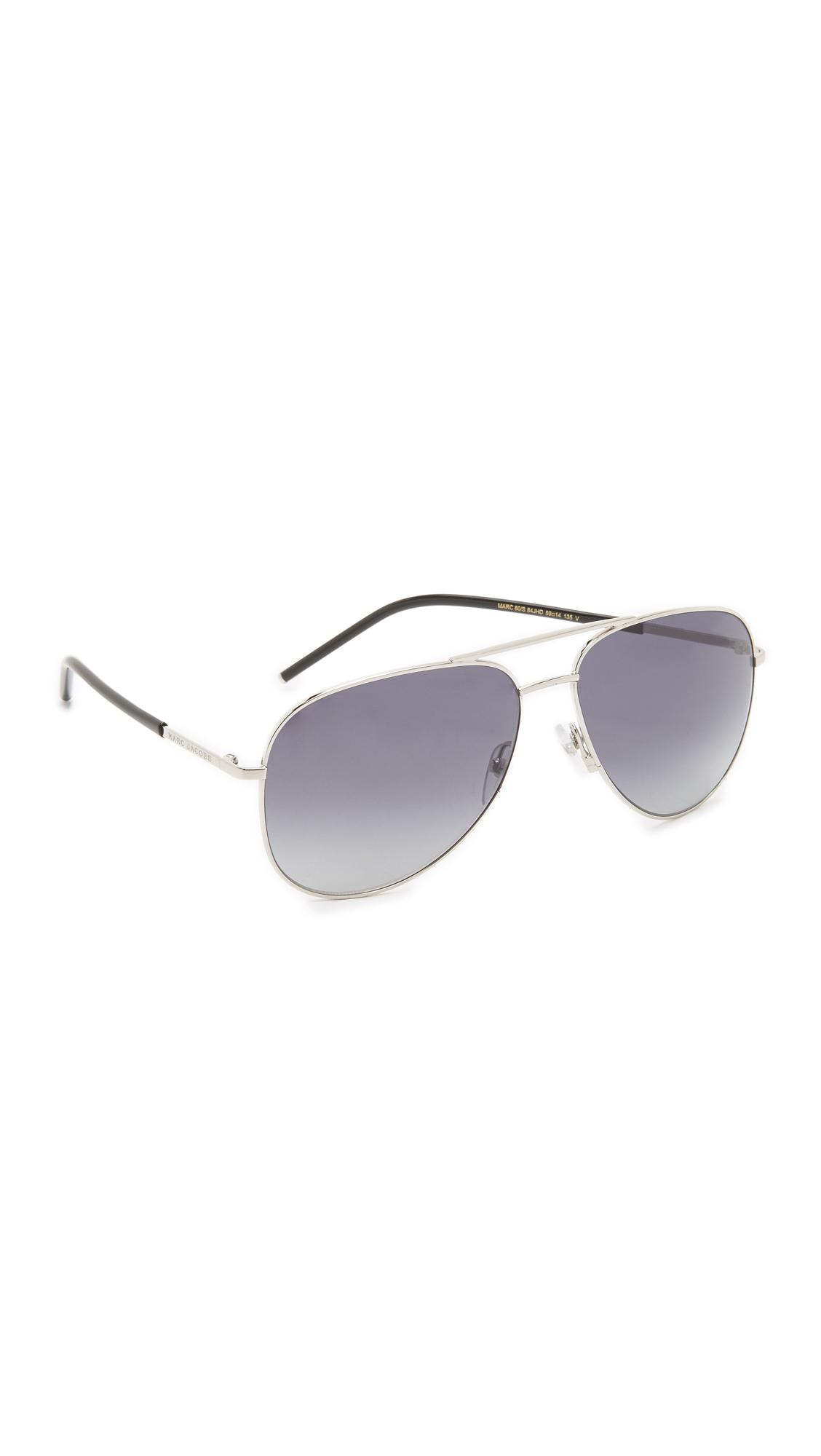cebc830ea4430 Sunglasses Metallic Aviator Jacobs In Marc Lyst 7qnvAZwBB