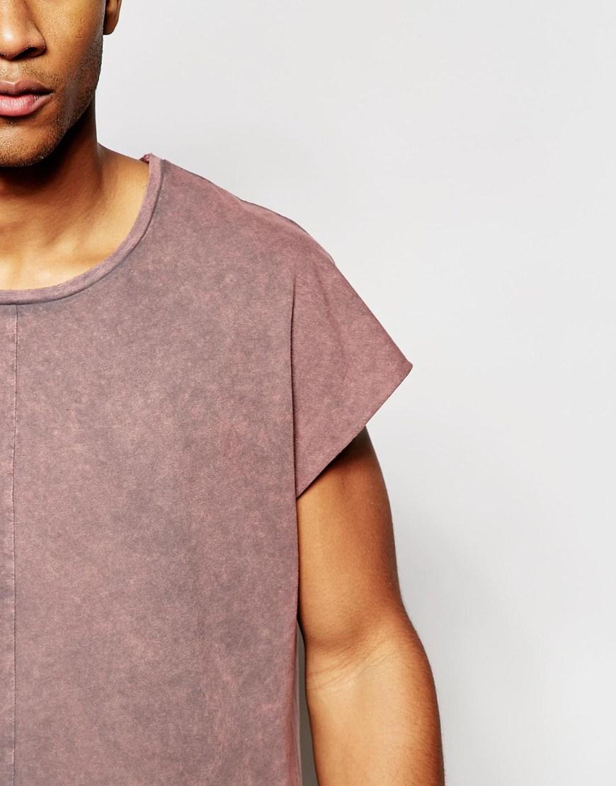 c53d8b5b ASOS Oversized Longline Sleeveless T-shirt With Acid Wash And Raw ...