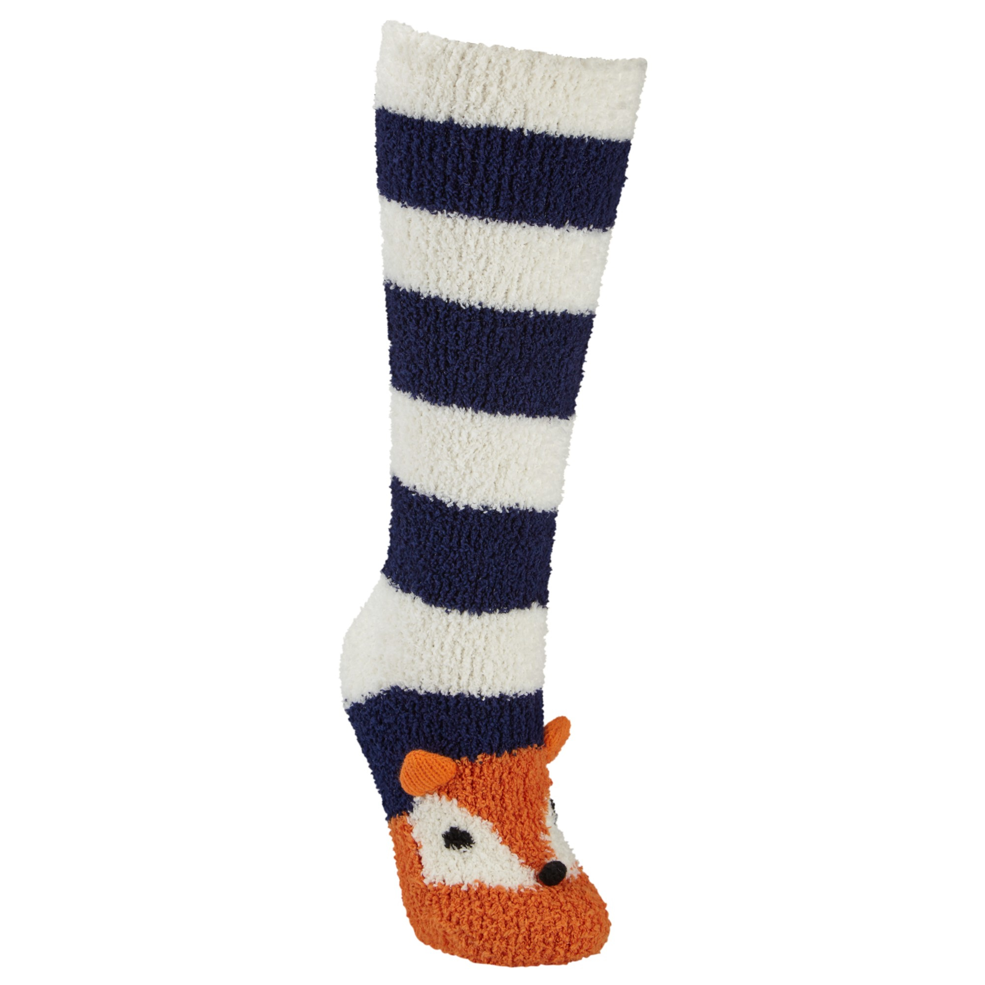 John Lewis Christmas Fox Fluffy Knee High Socks Lyst
