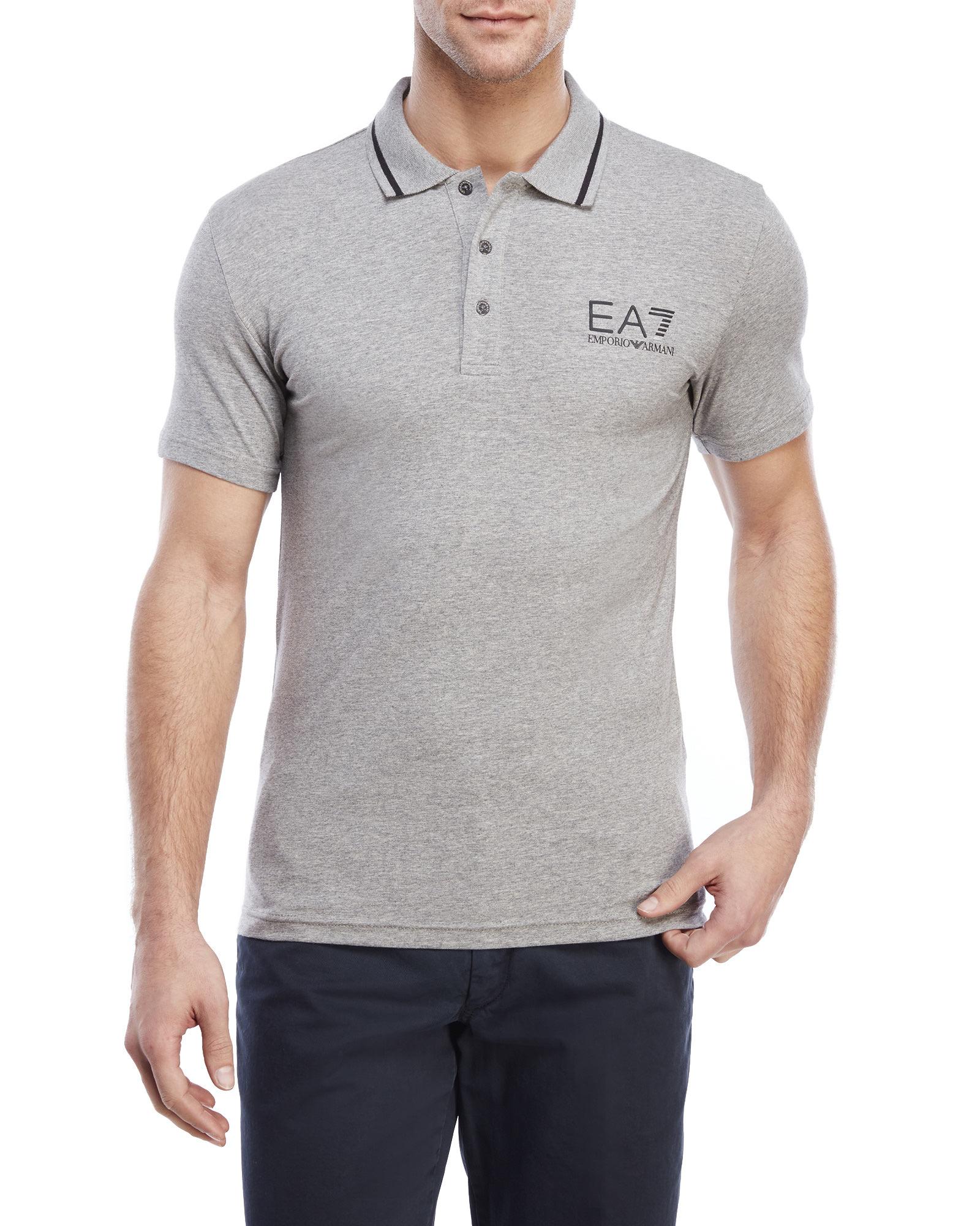 ebd33121 EA7 Medium Grey Train Core Id Polo Shirt in Gray for Men - Lyst