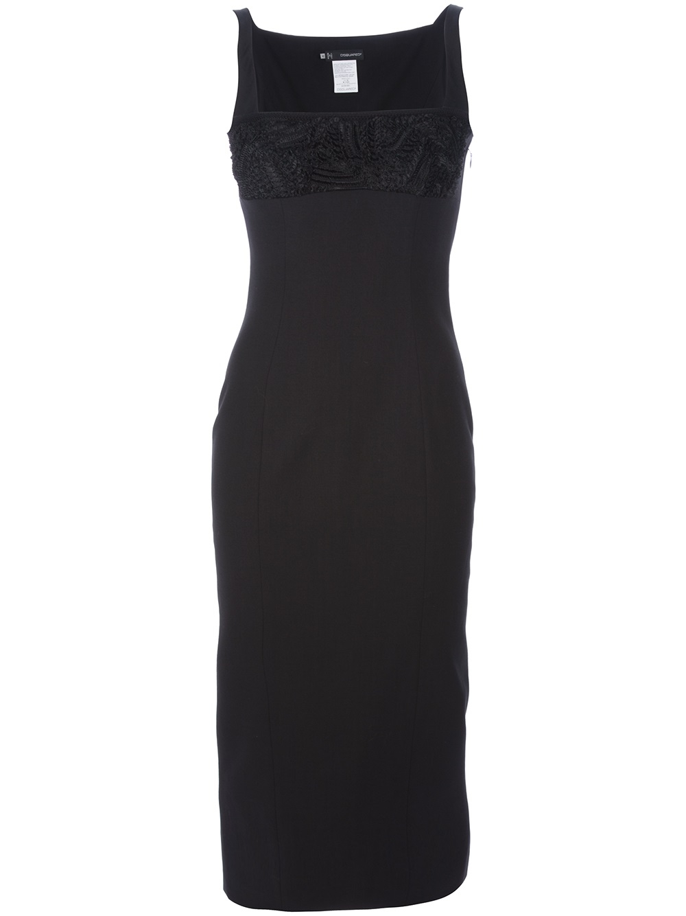 Dsquared² Empire Line Dress in Black | Lyst