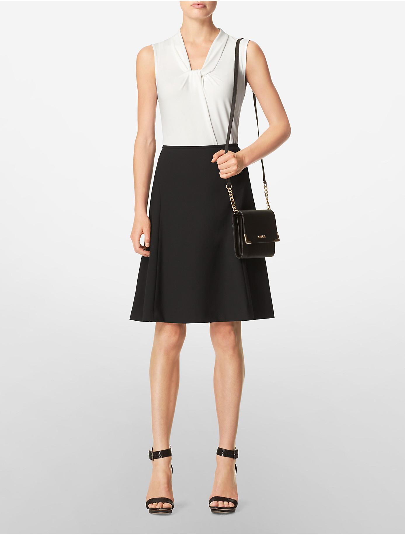Lyst - Calvin klein Saffiano Leather Crossbody Bag in Black : calvin klein quilted leather crossbody bag - Adamdwight.com