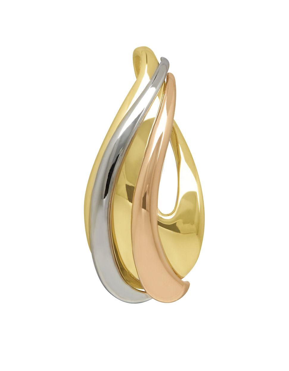 ... gold omega fine necklaces pendants ebay; lyst lord taylor 14k tri tone omega necklace slide in metallic ...