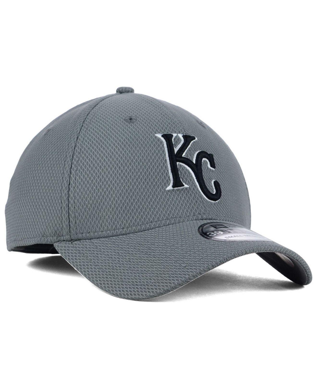 buy popular 7455d 8d346 KTZ Kansas City Royals Diamond Era Gray Black White 39thirty Cap in ...
